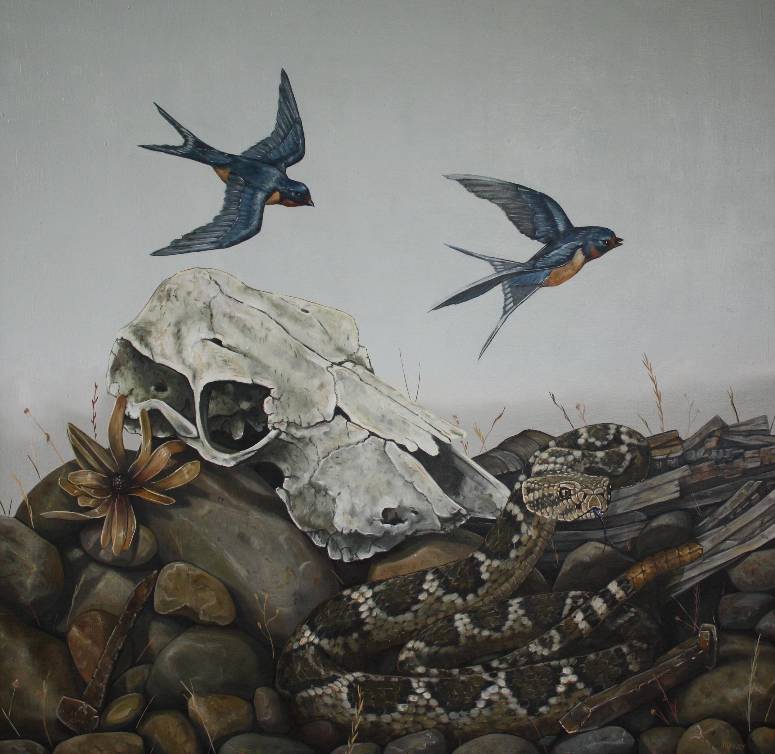Malheur . Oil on Canvas .28 x 28