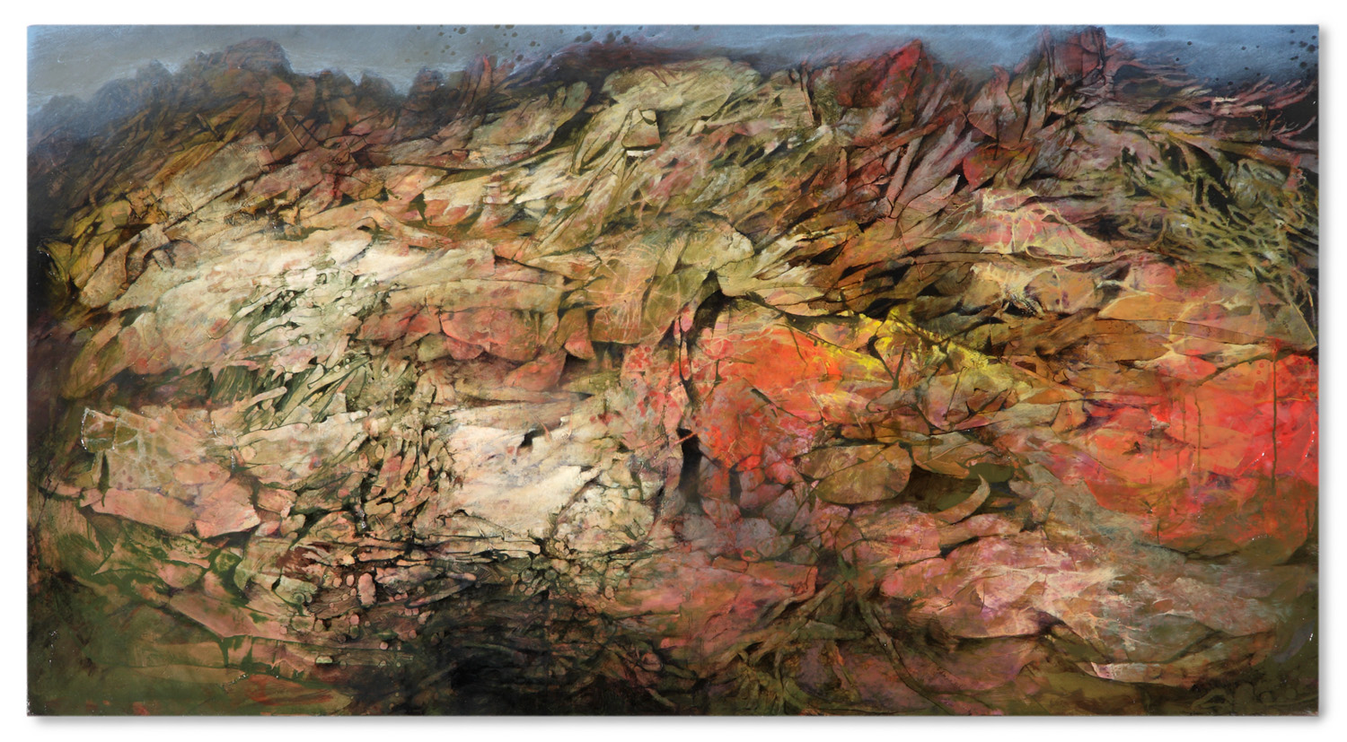 The Quarry . Oil on Panel . 48 x 26