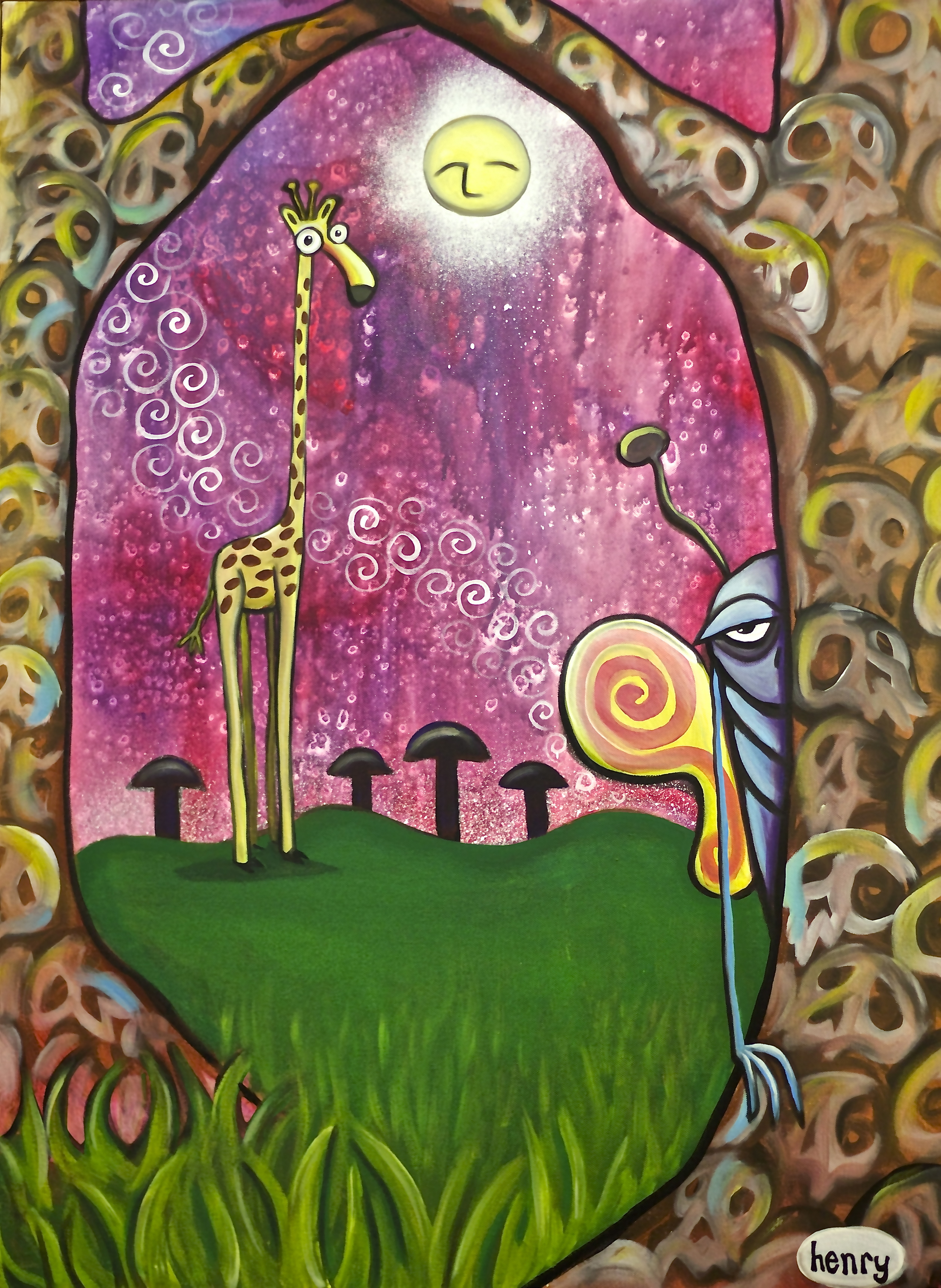 """Without Death . acrylic on canvas . 30"""" x 40"""""""
