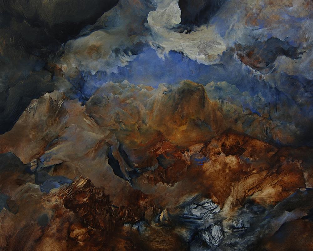 High Sierras . Oil on Canvas