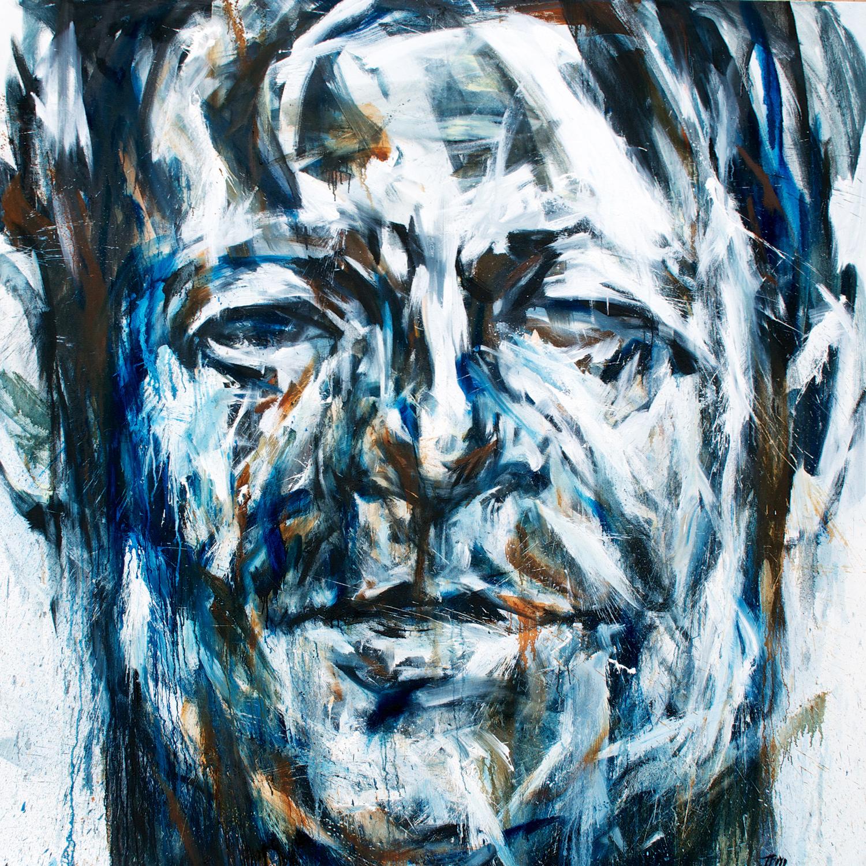 Gaze . Oil on Canvas . 72 x 72
