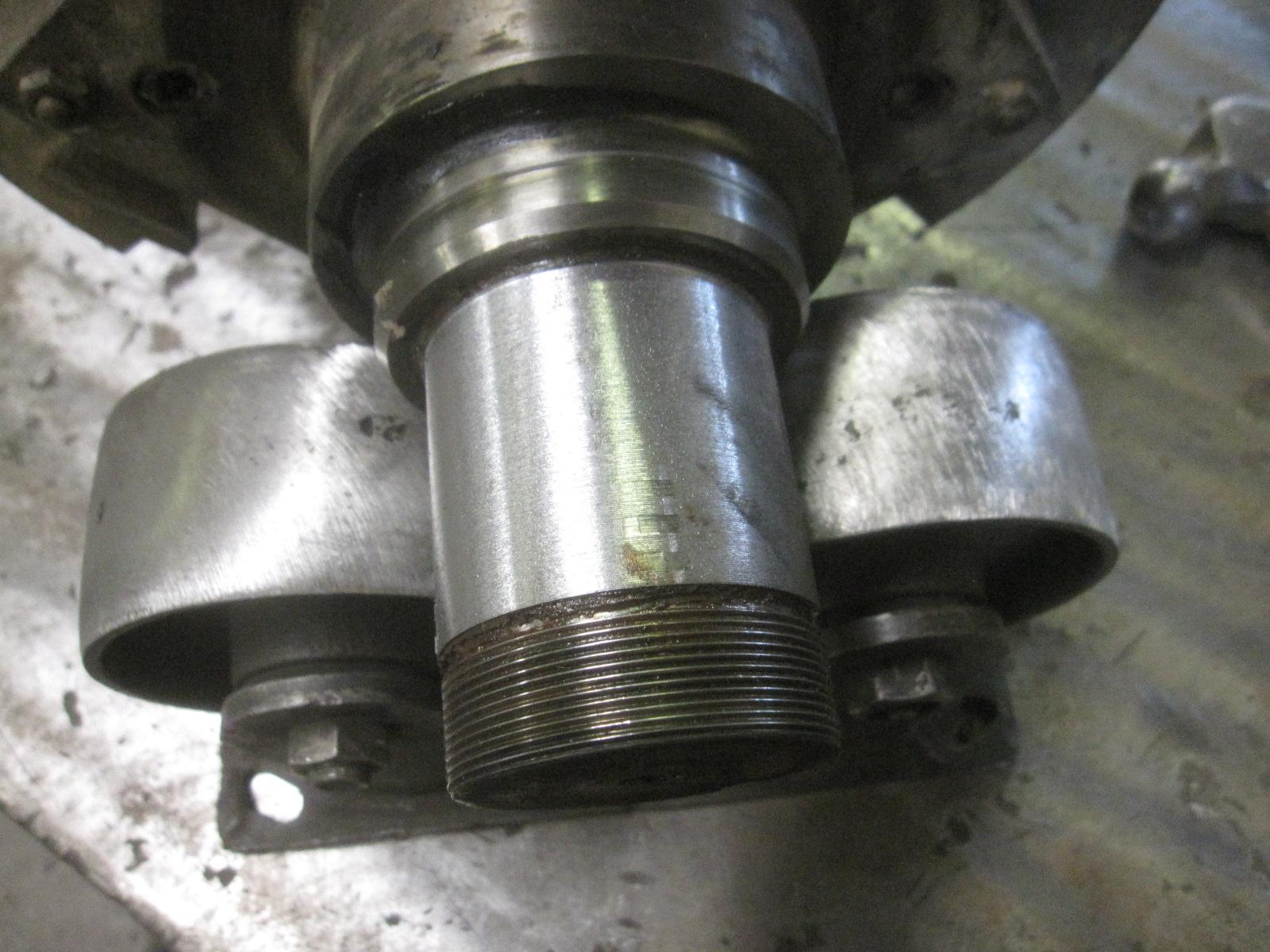 2' steel shaft thread rebuild