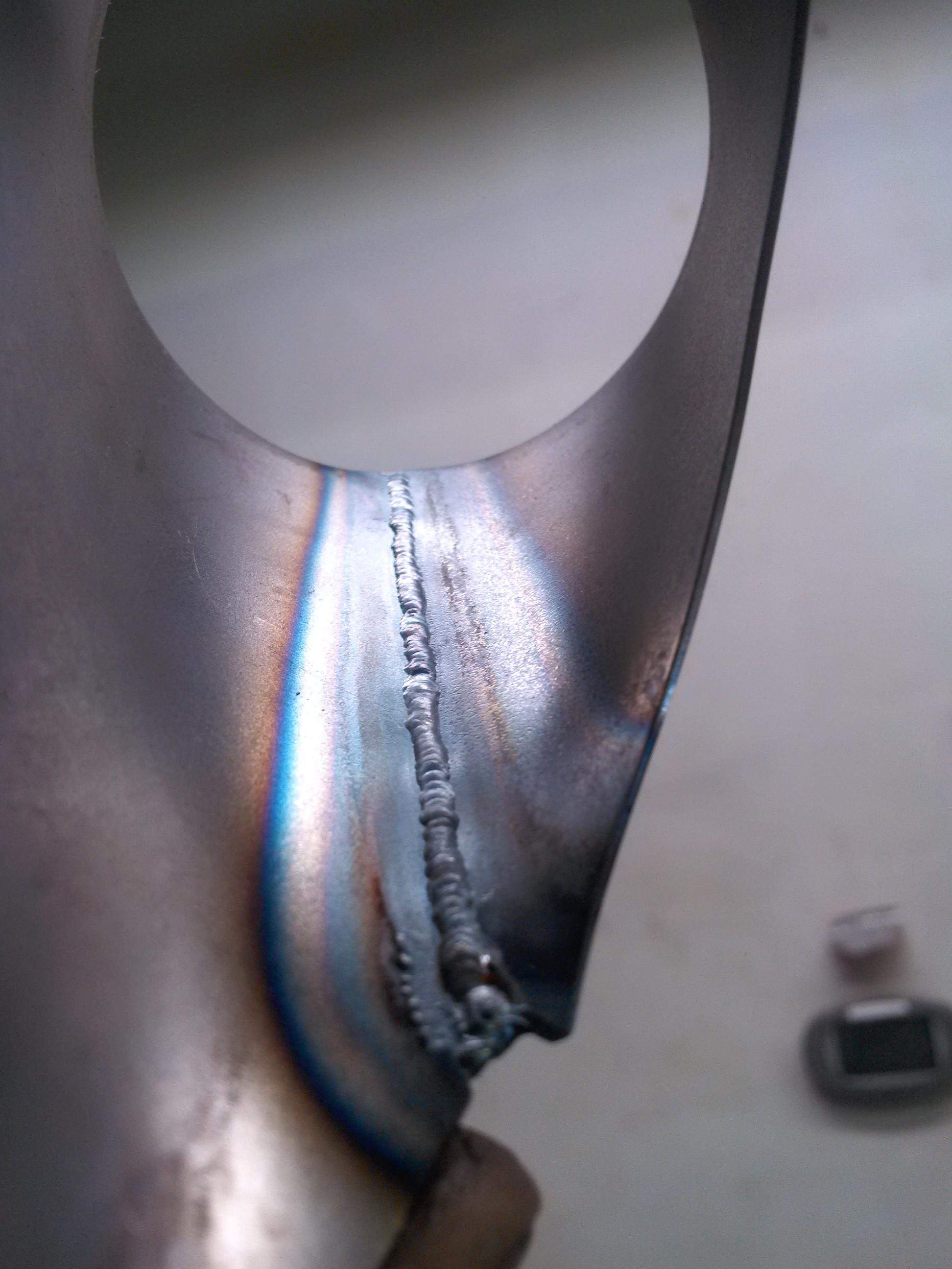 underside of weld