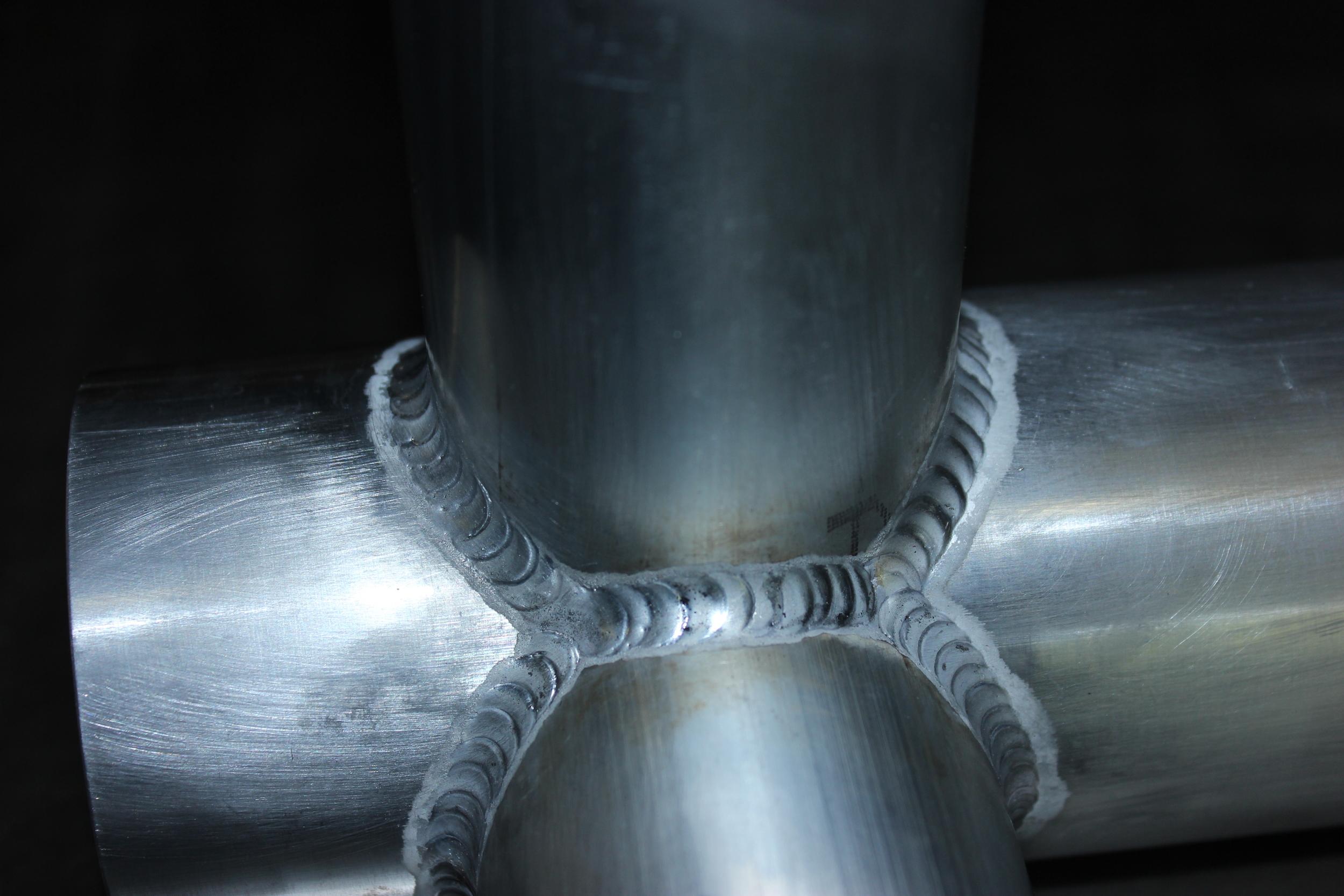 """2"""" aluminum pipe 90 degree T"""