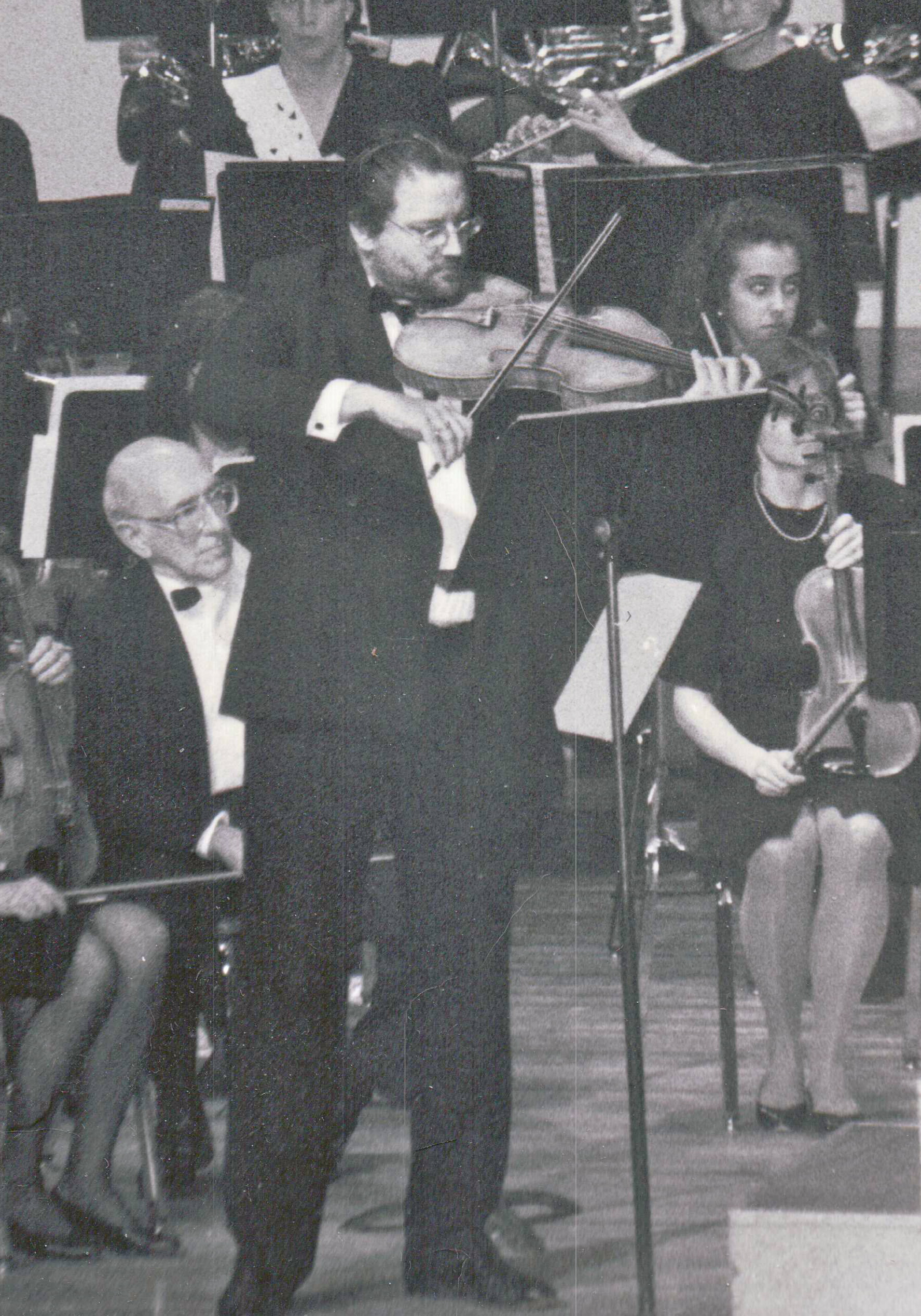 """Performing Bob Cobert's """"Concert Piece For Viola and Small Orchestra""""."""