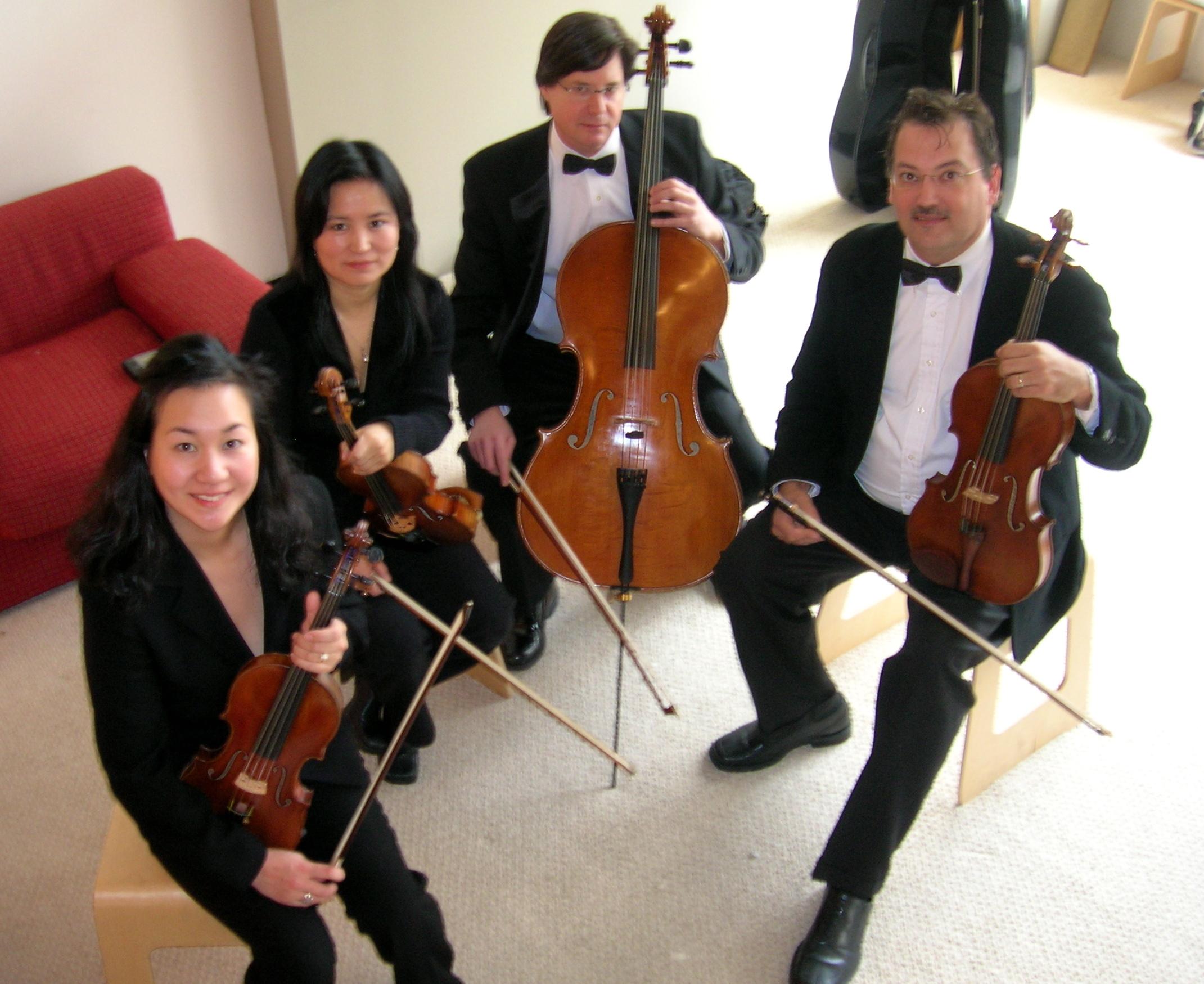 The Piacere String Quartet.
