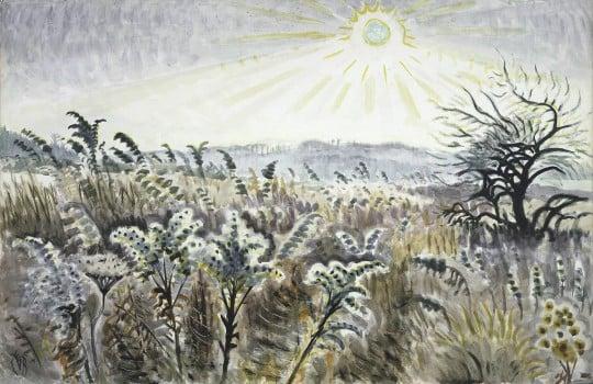 Charles E. Burchfield (1893-1967),  Goldenrod in December , 1948