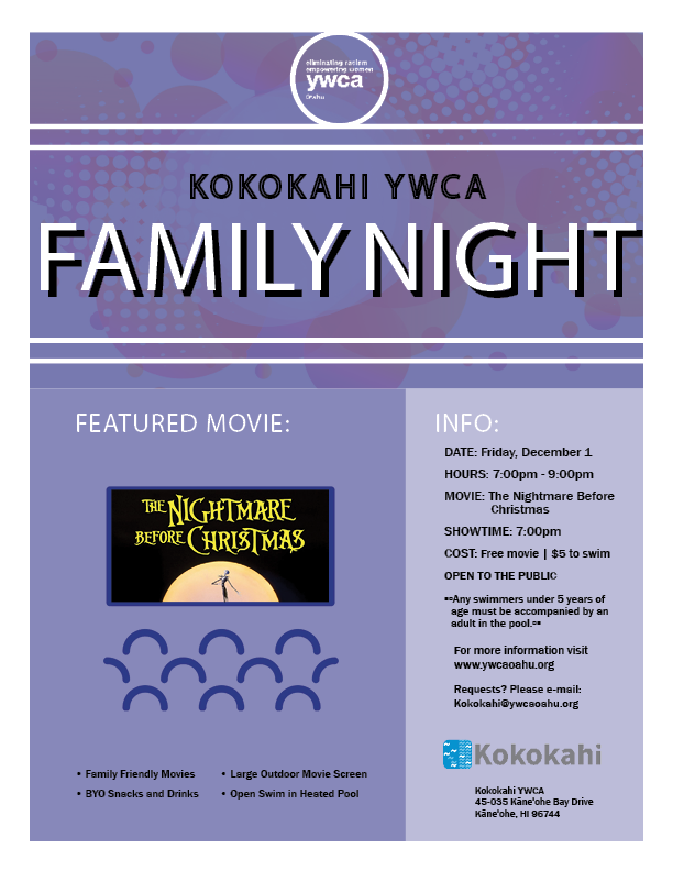 Kokokahi Family Night flyer DEC 2017.png