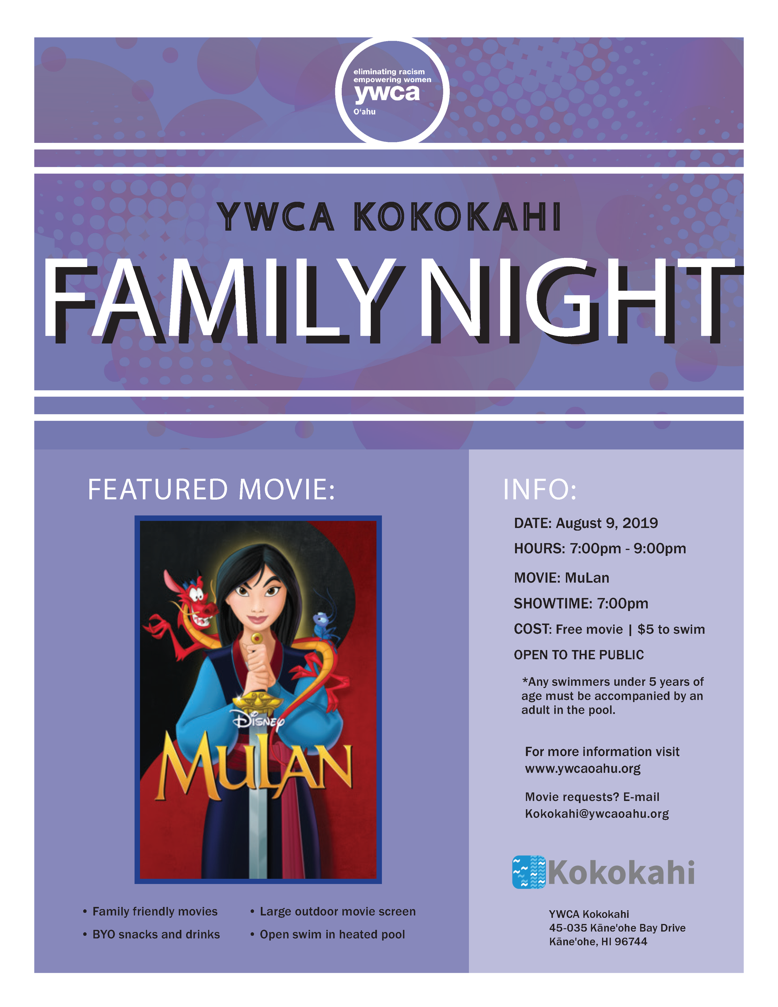 Kokokahi Family Night flyer Aug 09 2019.png