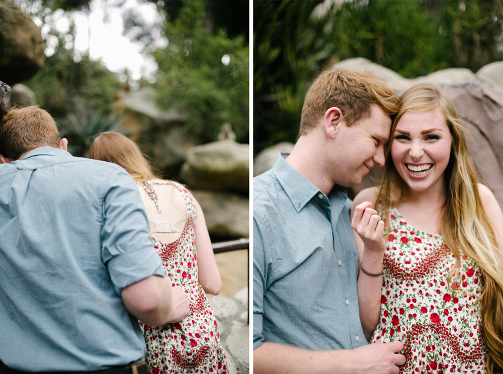 los angeles zoo engagement photos
