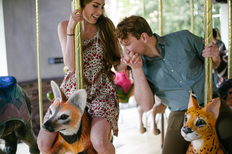 carousel engagement photo