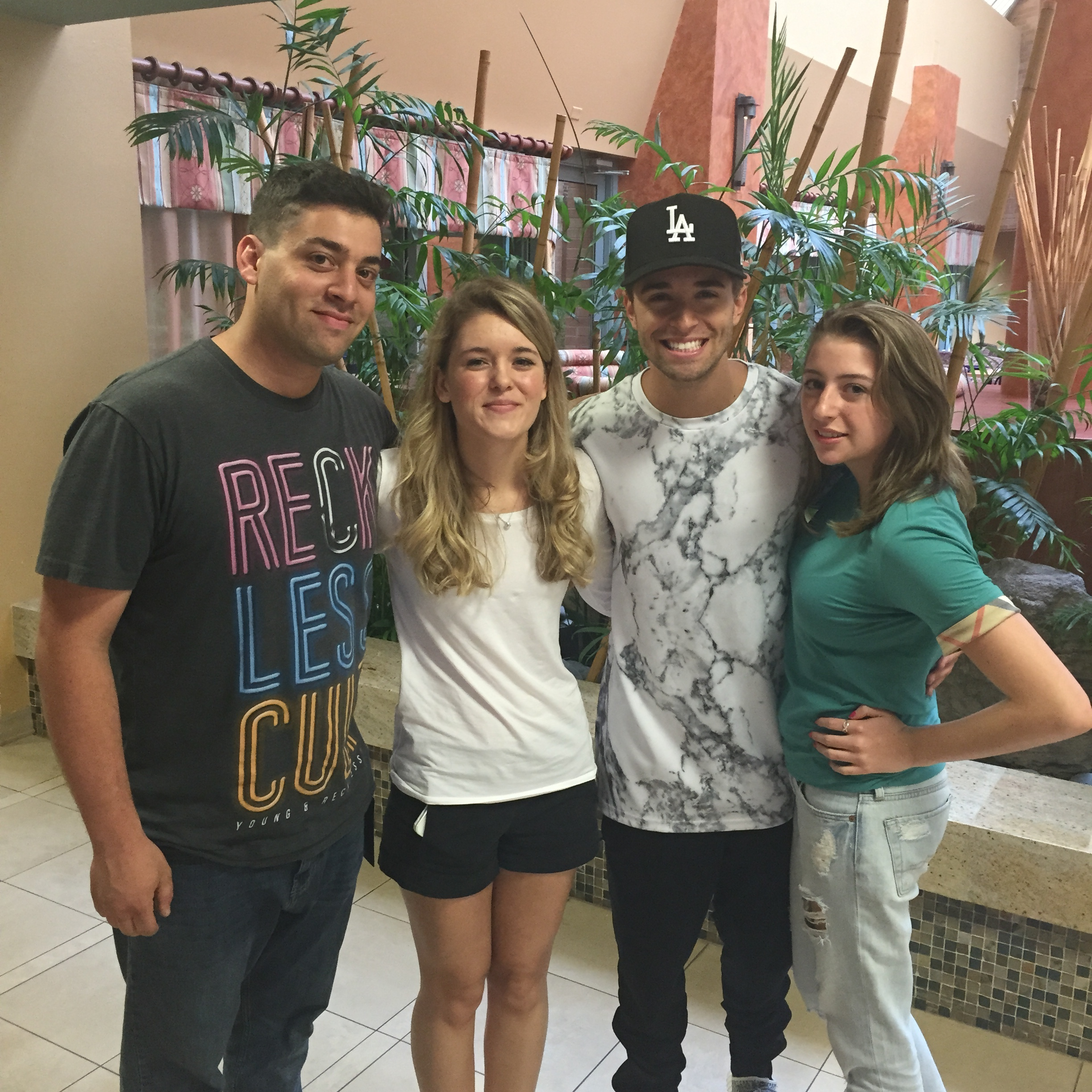 Birttney (Left) Gabrielle (Right) with Jake Miller