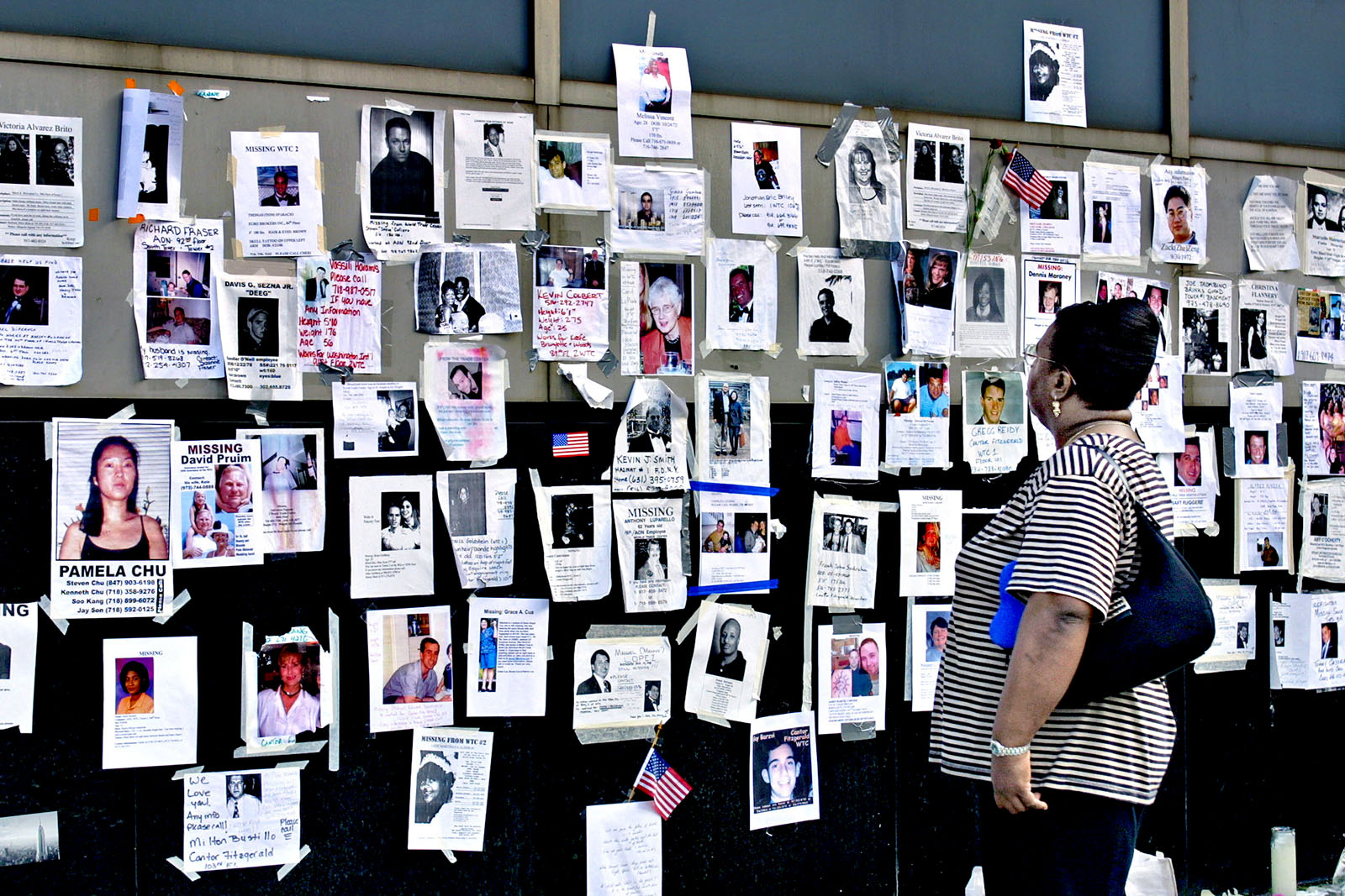 These notes of missing people could be seen all over Manhattan after 9/11.