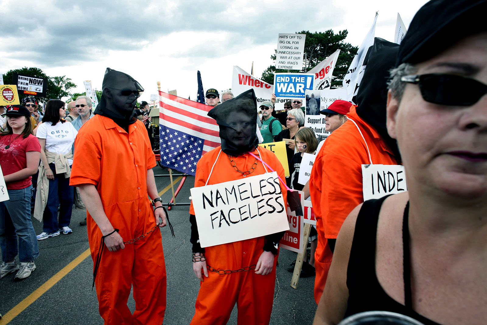 Kennebunkport, Maine.June 2007: Protesters against the wars and Guantanamo Bay.
