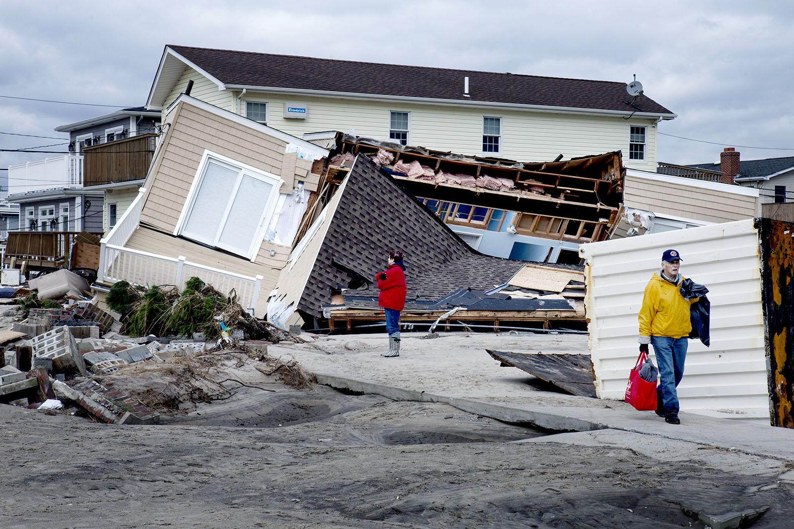 November 2012.Devastation after superstorm Sandy inBreezy Point, NY.
