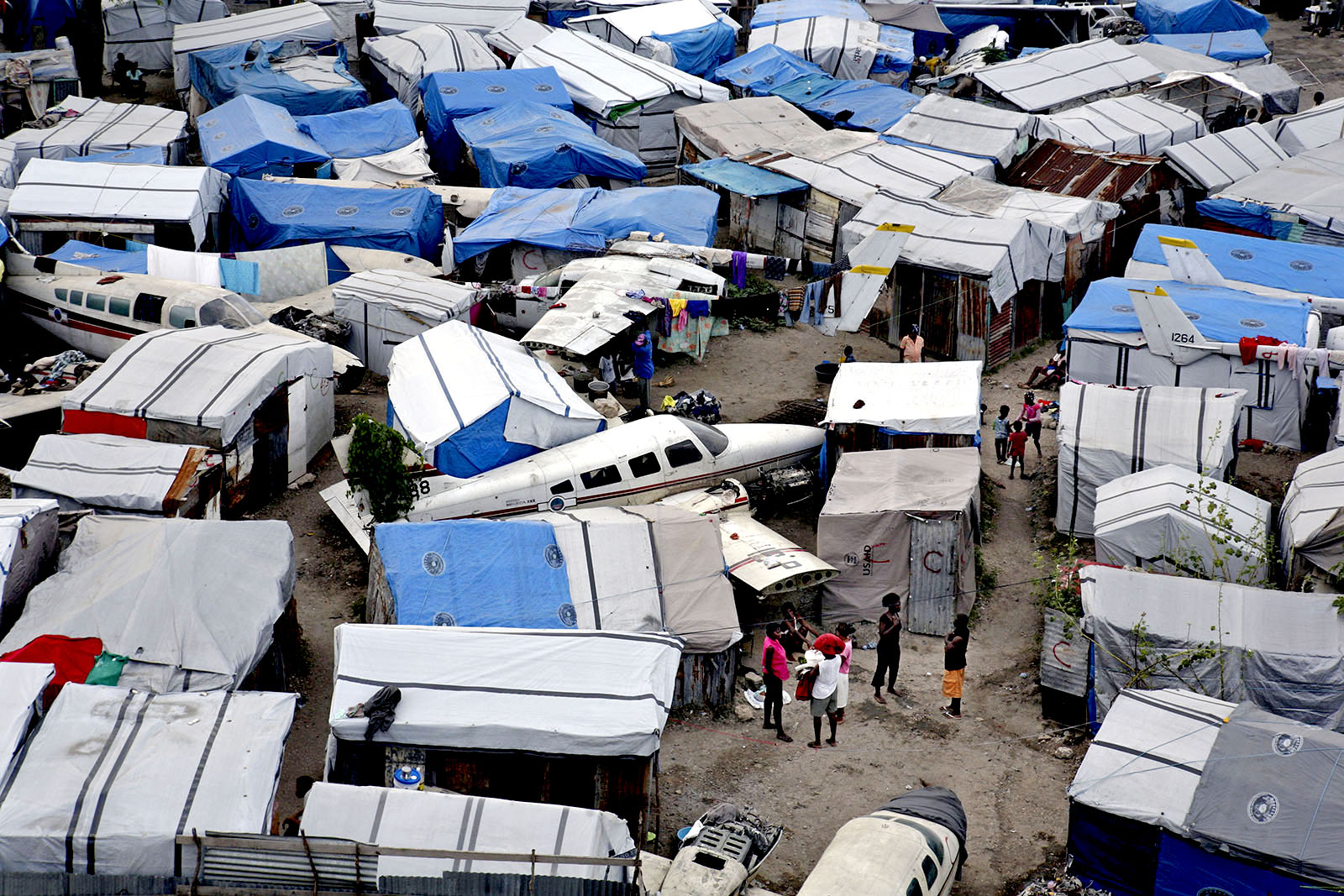 One of many camps for residents who's houses were destroyed in the earthquake.