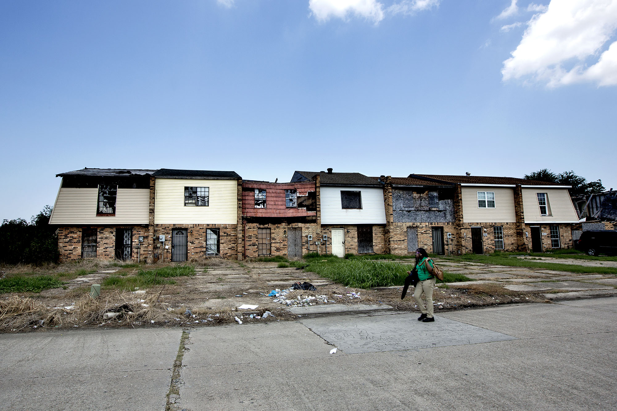 August 2015: the scars are still visible in New Orleans East.