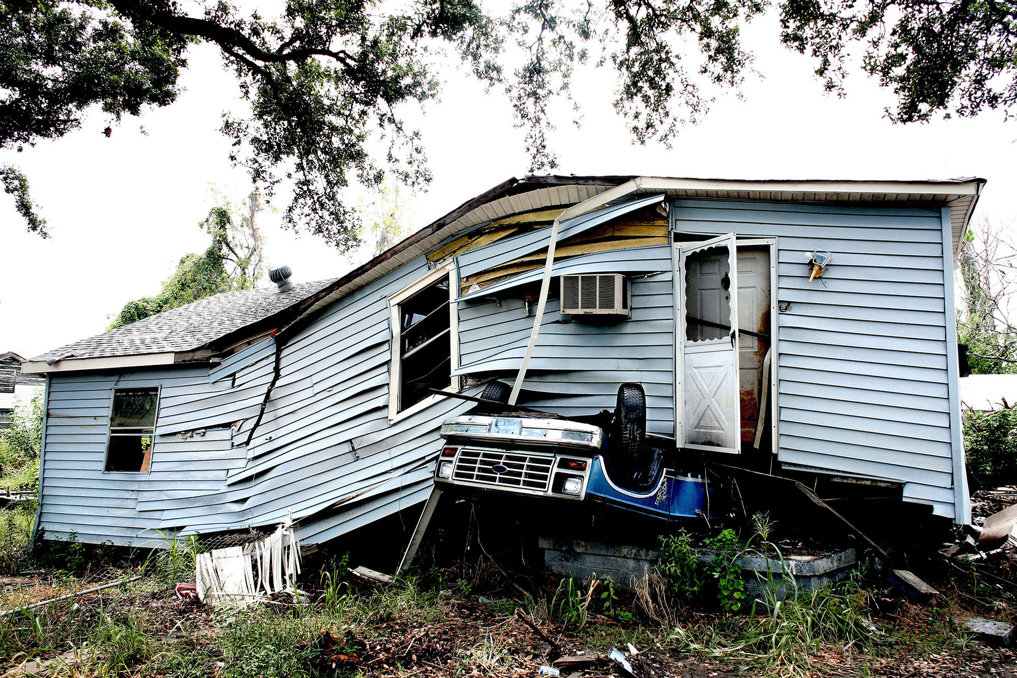A house in Lower Ninth Ward one year after the hurricane.