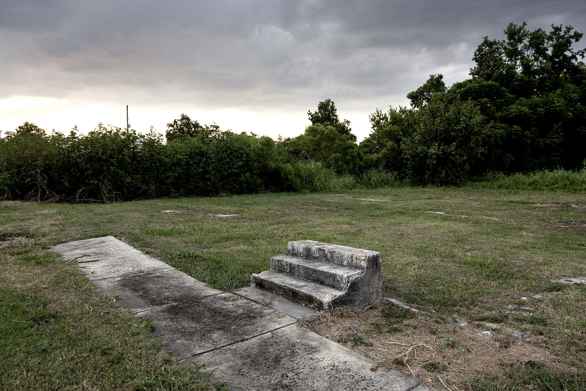 Stairs to nowhere. A common sight in the Lower Ninth Ward where over 4,000 houses where destroyed by the flooding.