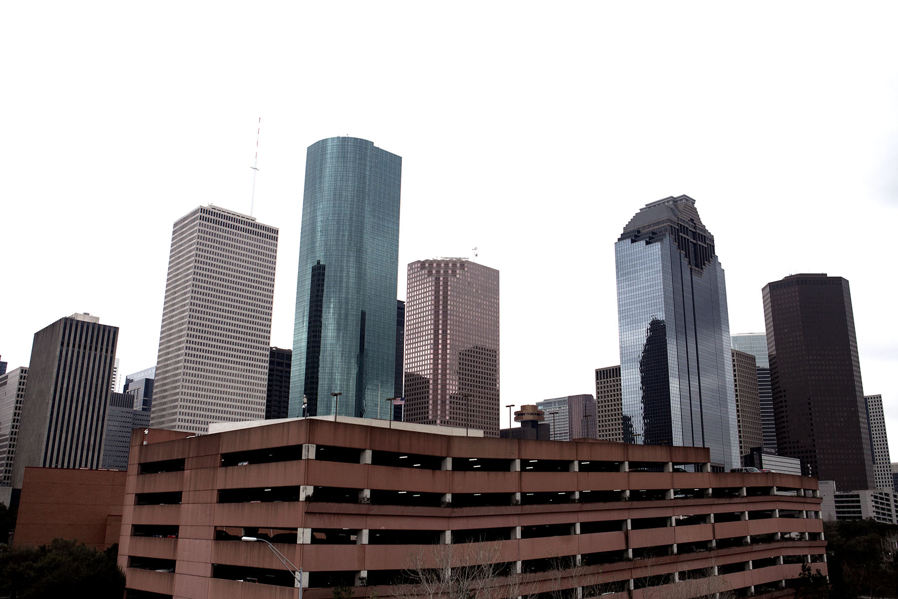 Houstons downtown är ett av de tråkigaste i USA. Nästan inga butiker och glest mellan restaurangerna. Men de har fina parkeringsgarage.