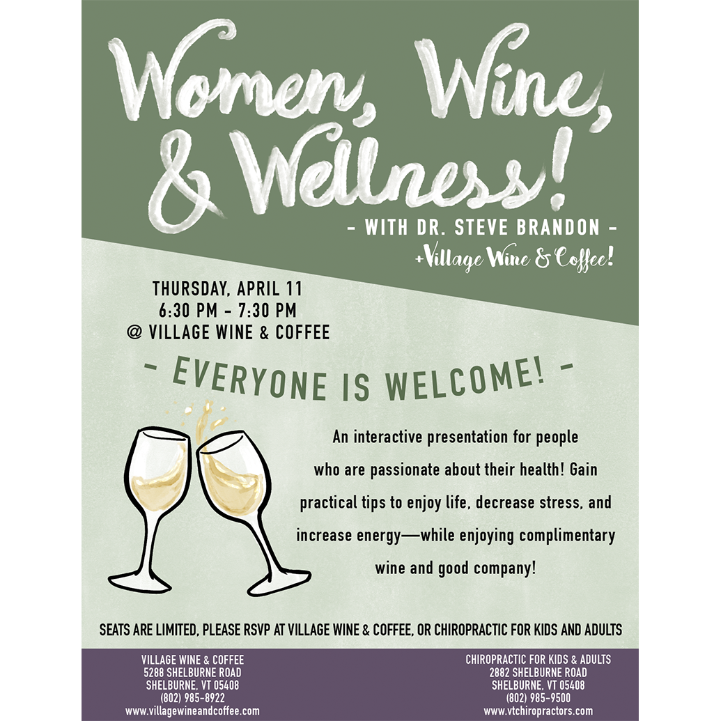 Women, Wine, & Wellness at Shelburne Wine and Coffee