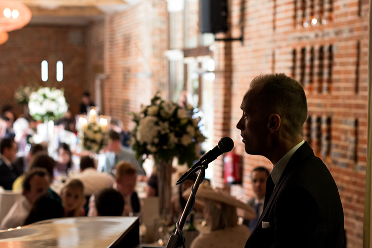 Performance during a wedding breakfast