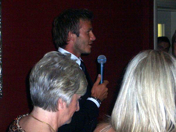 Danny playing for David & Victoria Beckham, June 2009