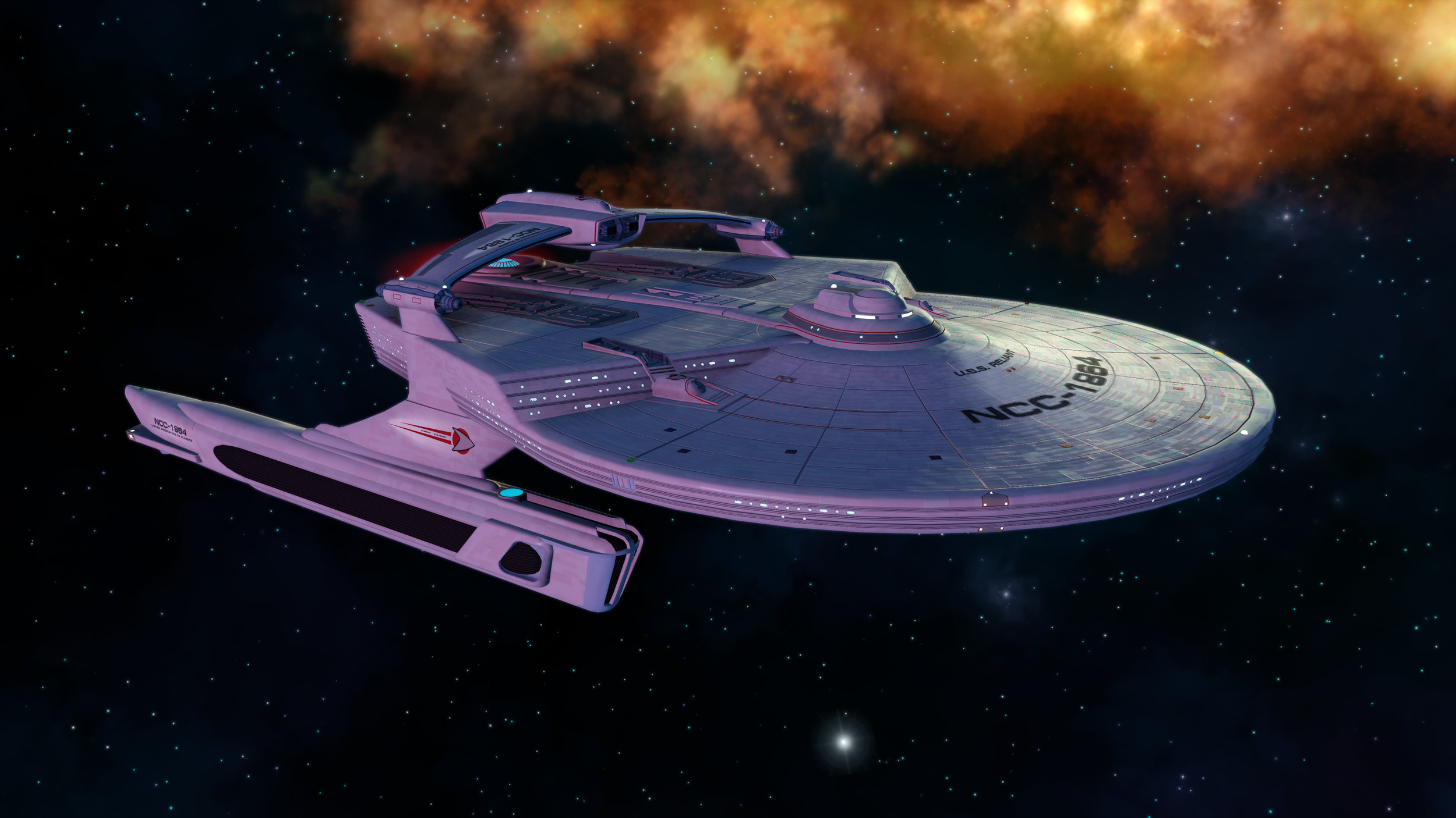 The  Miranda  class as seen in STO (© Cryptic Studios)