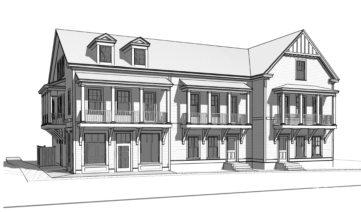 Design Rendering @ East Beach Row Houses