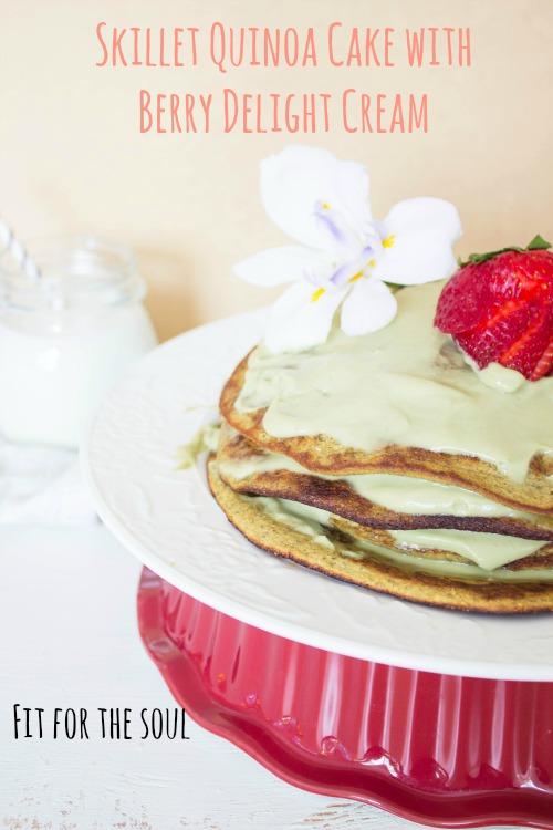 skillet-quinoa-cake-with-berry-delight-cream