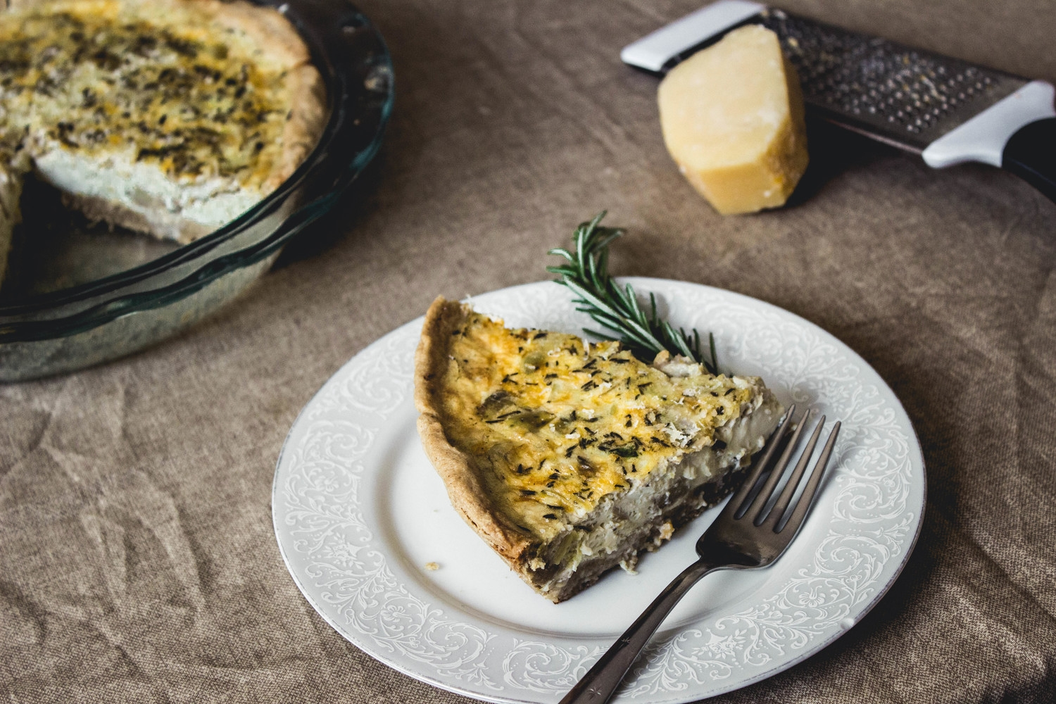 Hatch Chile Quiche with an Oat Crust by Fit for the Soul