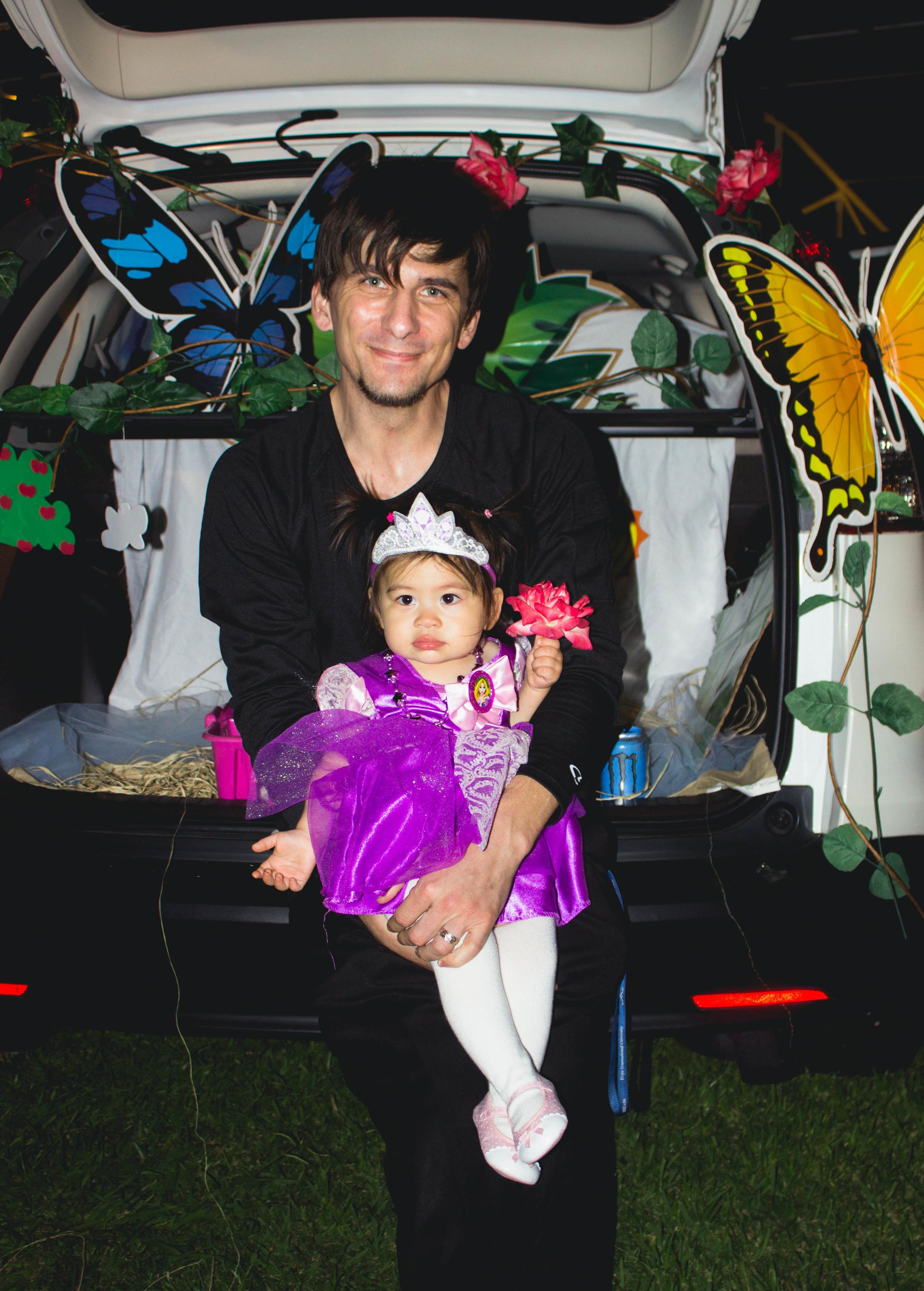 Selah's Rapunzel 2nd Halloween costume with daddy | fit for the soul
