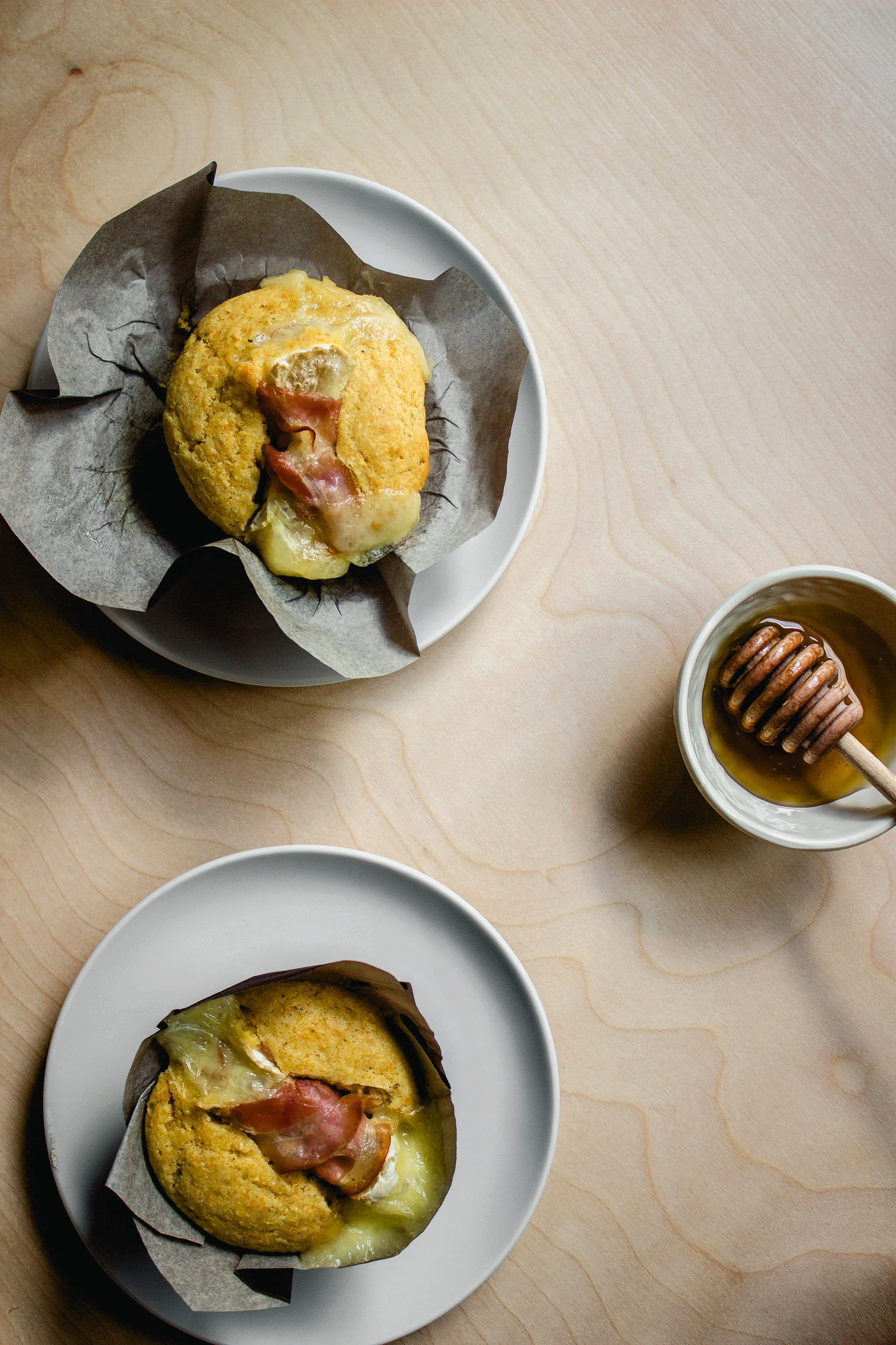 Corn Muffins with Rolled Up Prosciutto and Camembert Recipe | fit for the soul