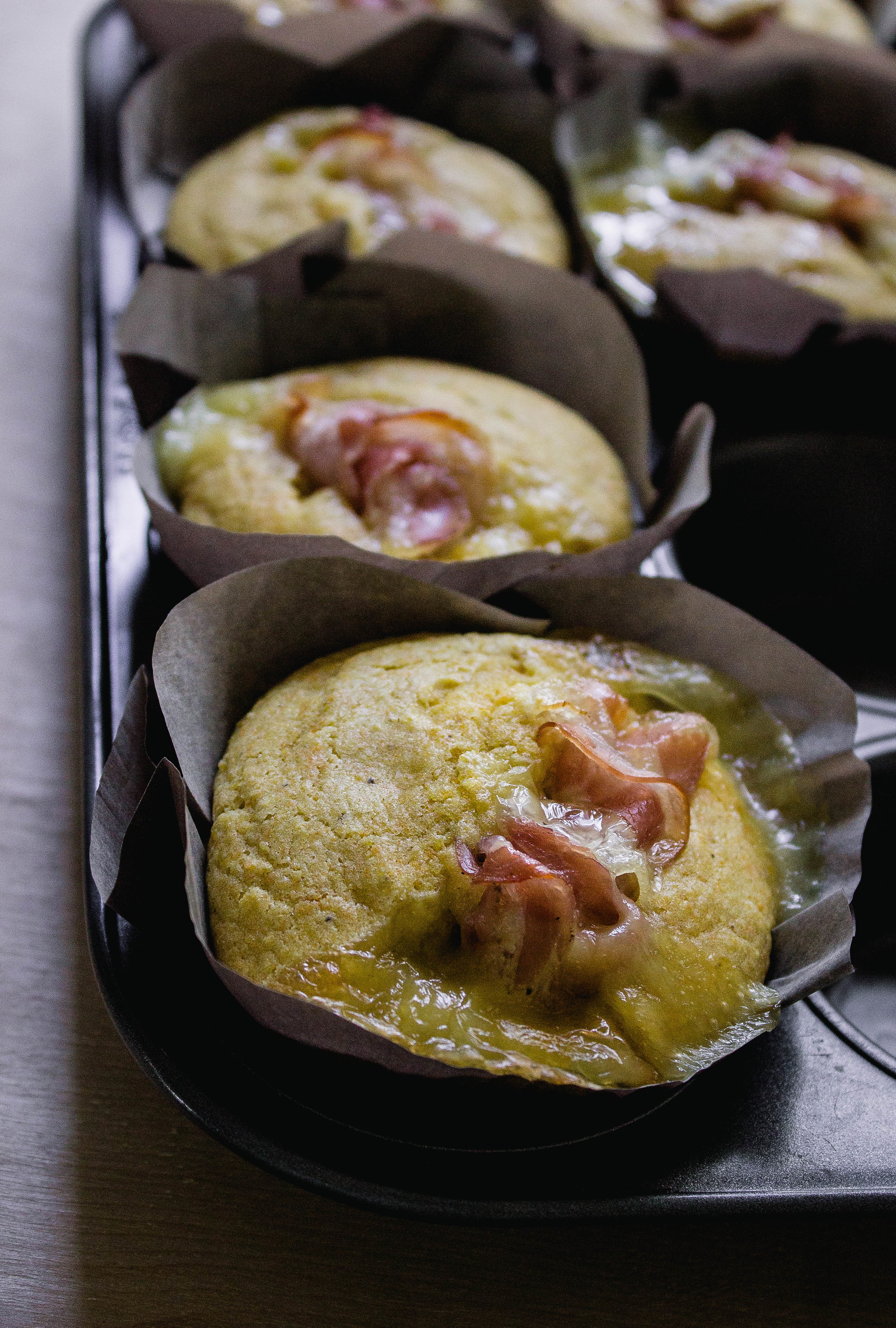 Prosciutto and Camembert Corn Muffins Recipe | fit for the soul