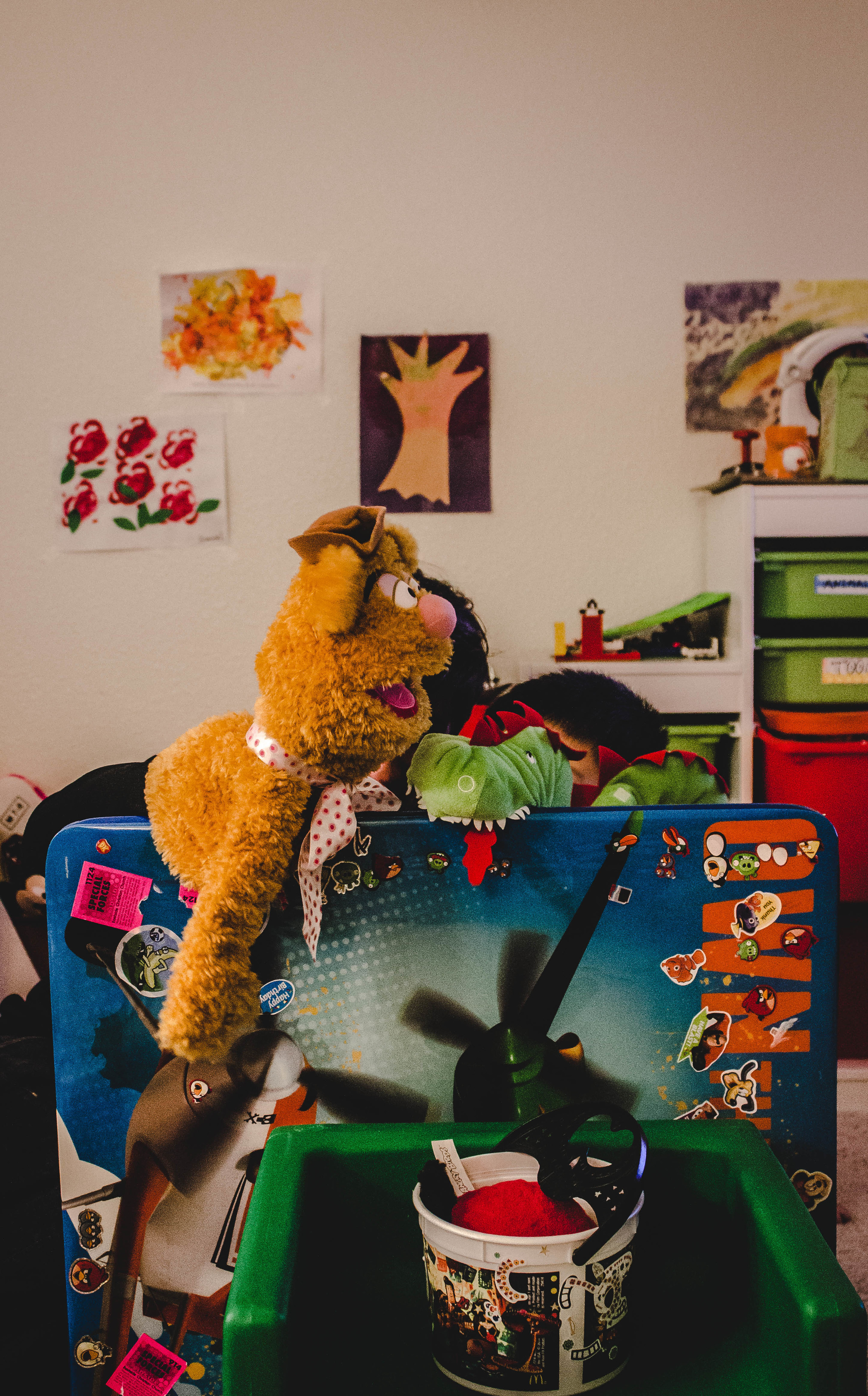 At-home puppet show with Fozzy| fit for the soul