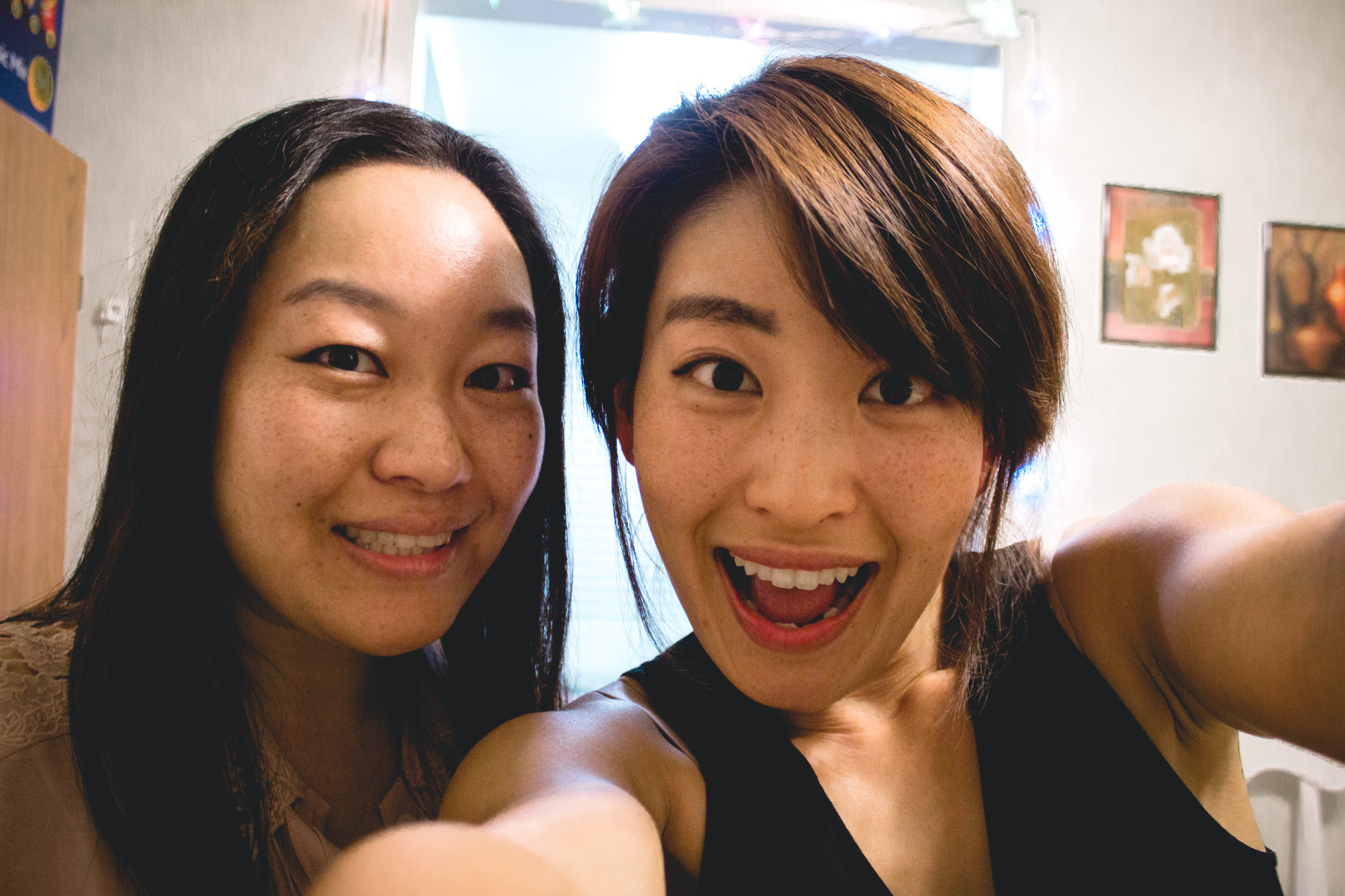 Unnie and me on Thanksgiving 2014 | fit for the soul