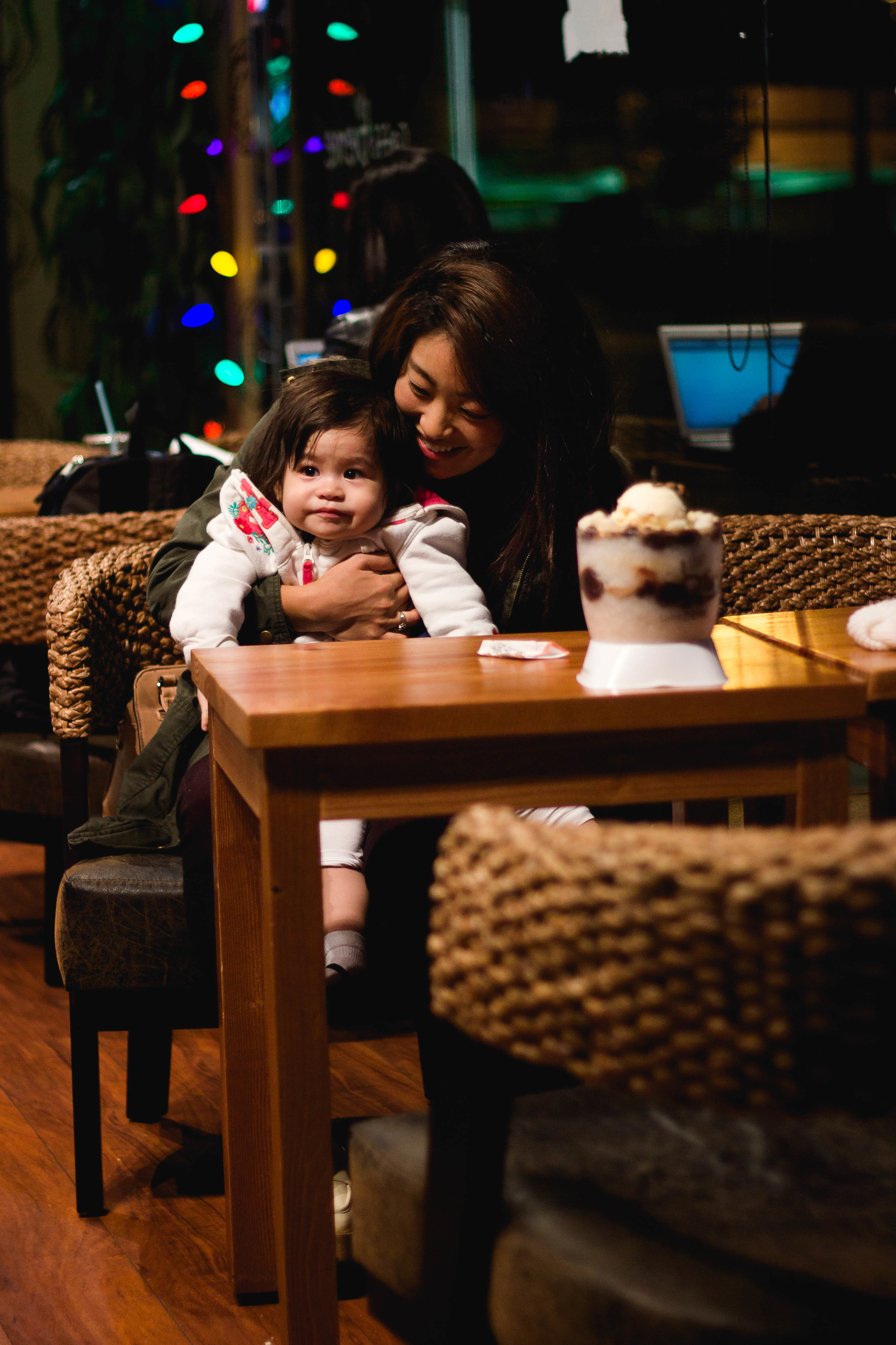 Selah and me at Caffe Bene in Gardena | fit for the soul