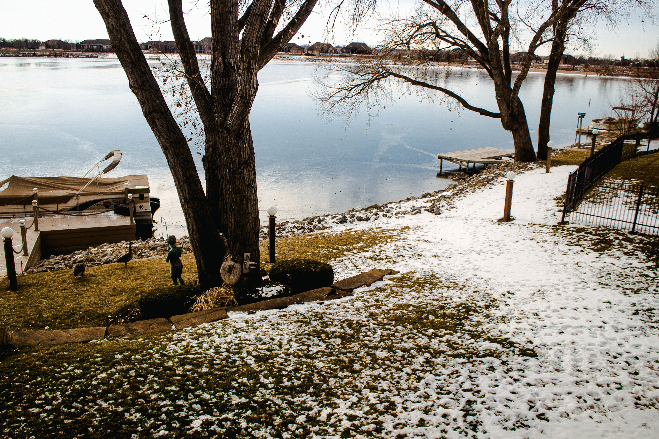 A snowy day out by the lake in Wichita, Kansas | by fit for the soul