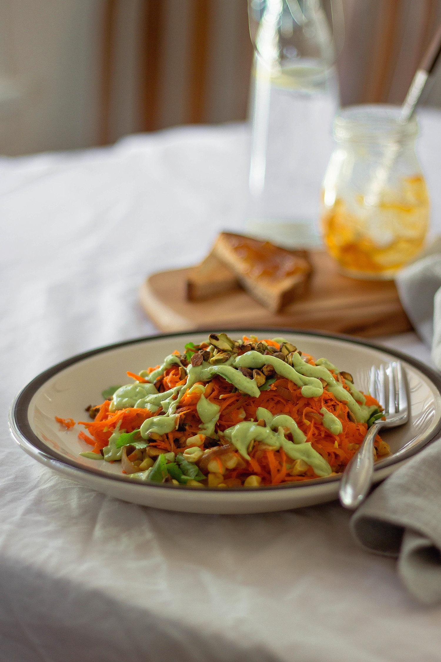 Carrot and pistachio salad with lime avocado dressing.jpg