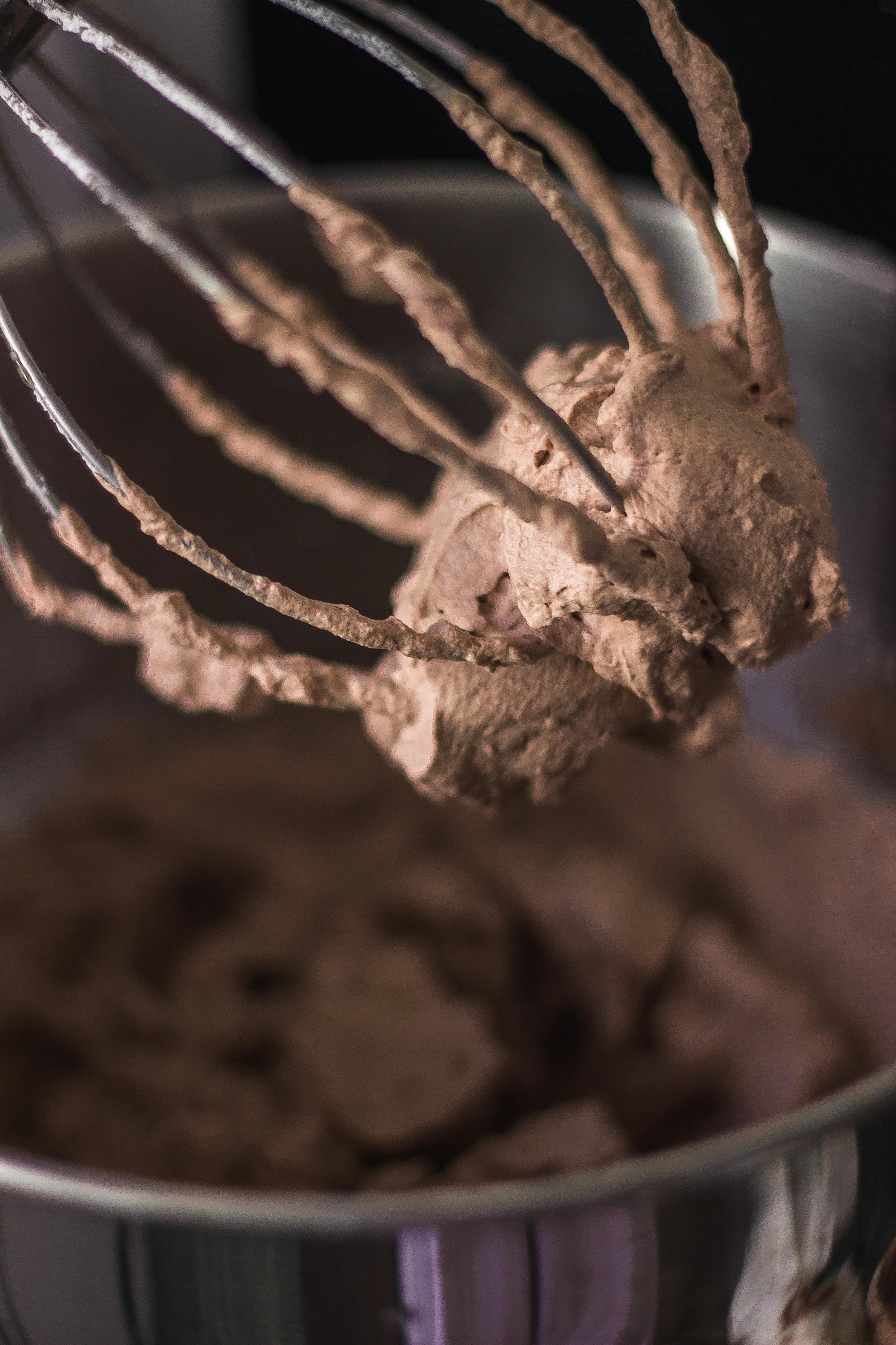 Silky milk chocolate whipped cream