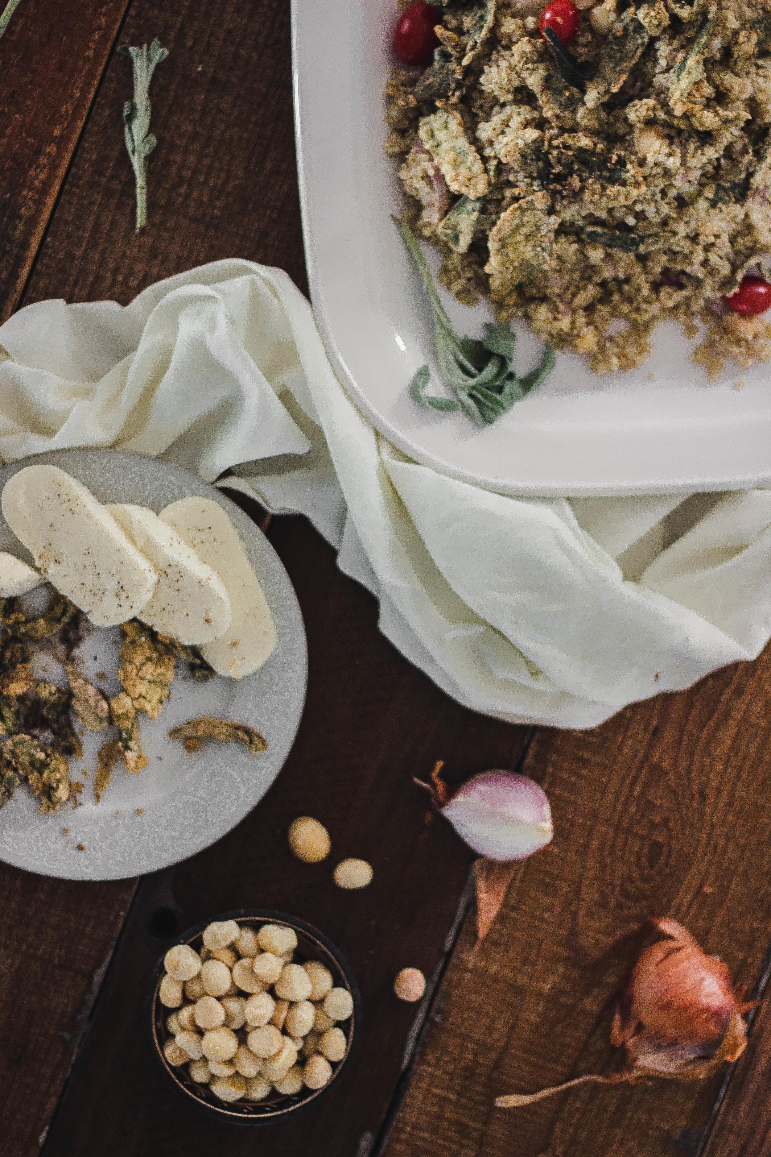 Creamy healthy quinoa with macadamia and fried sage.jpg