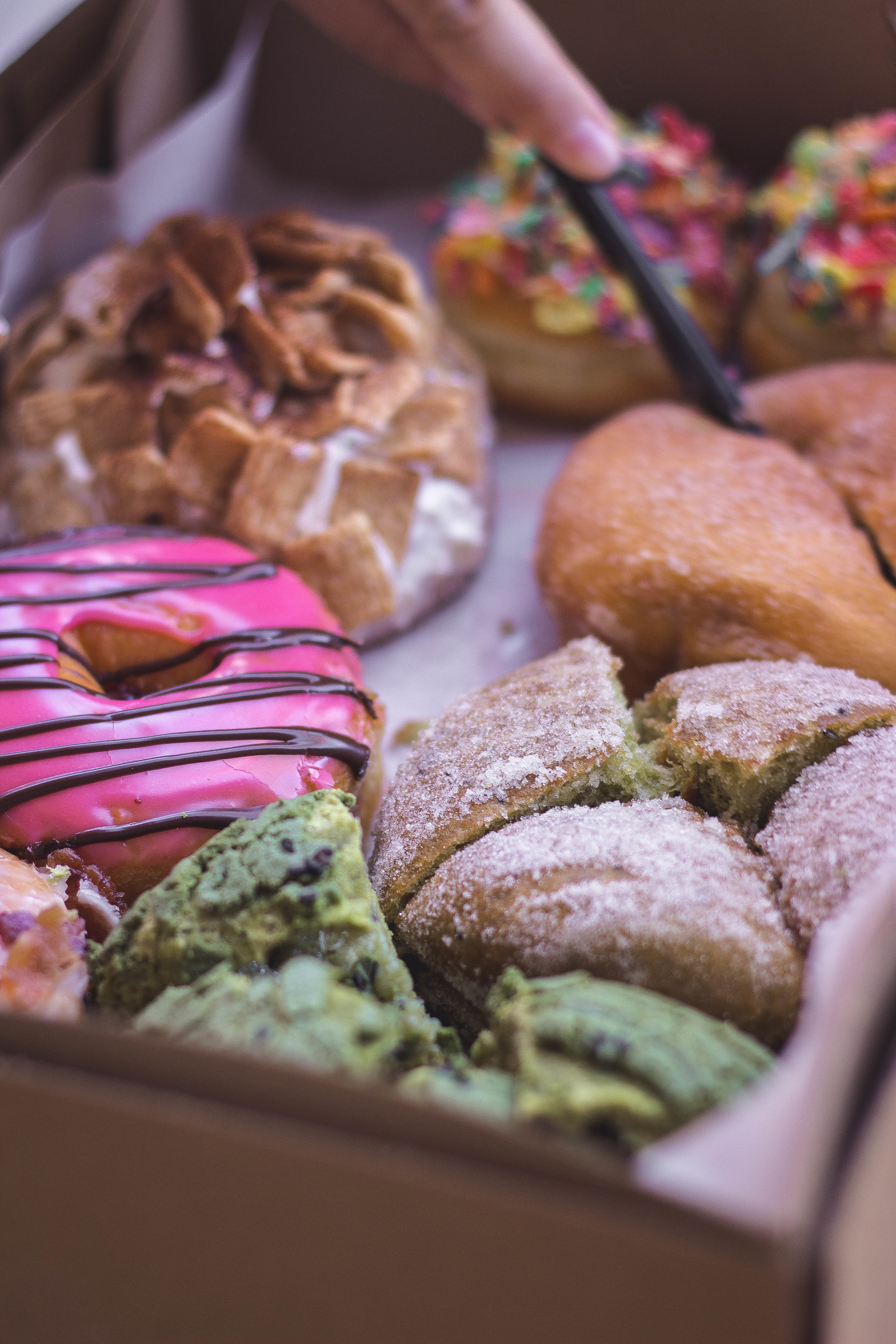 Cafe Dulce's amazing donuts and green tea roti.jpg