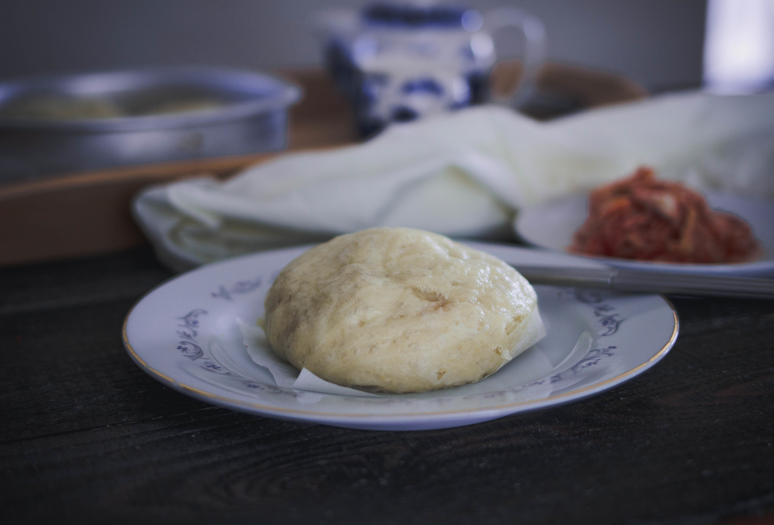 Easy Jjinbbang recipe with pork and kimchi filling   by fit for the soul