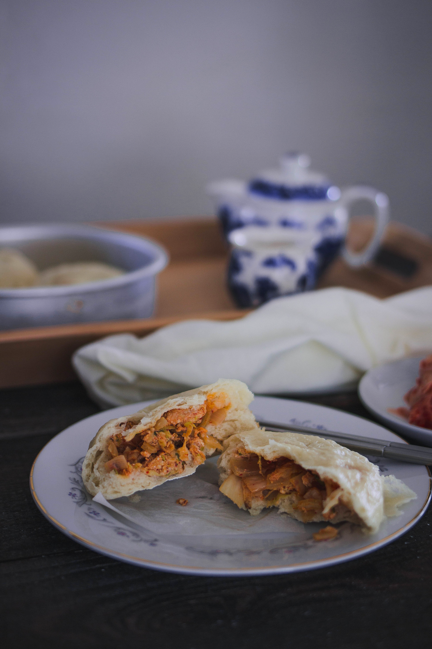 Kimchi and pork jjinbbang   by fit for the soul
