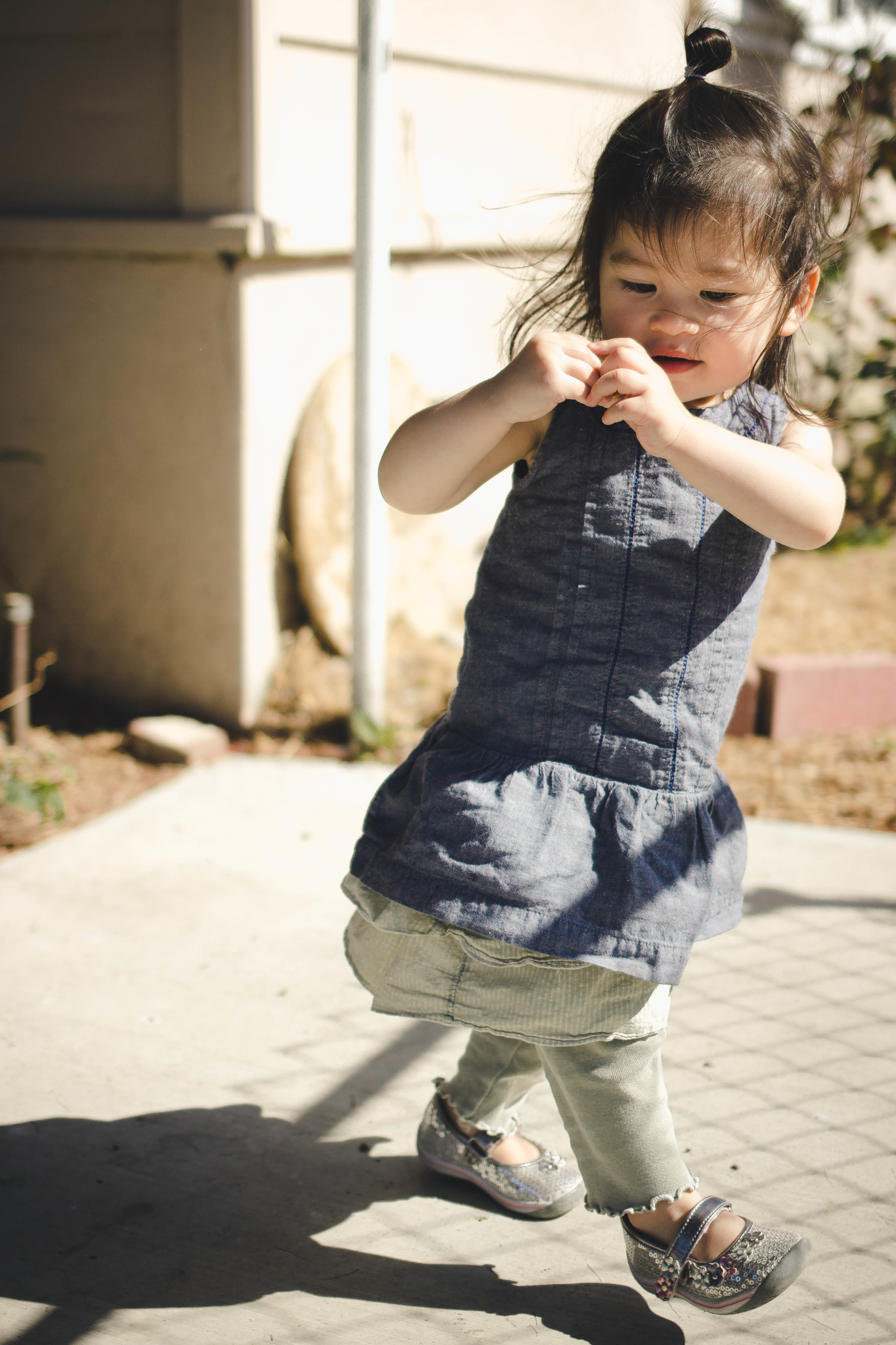 Selah playing in the yard at almost 2 years old | by fit for the soul