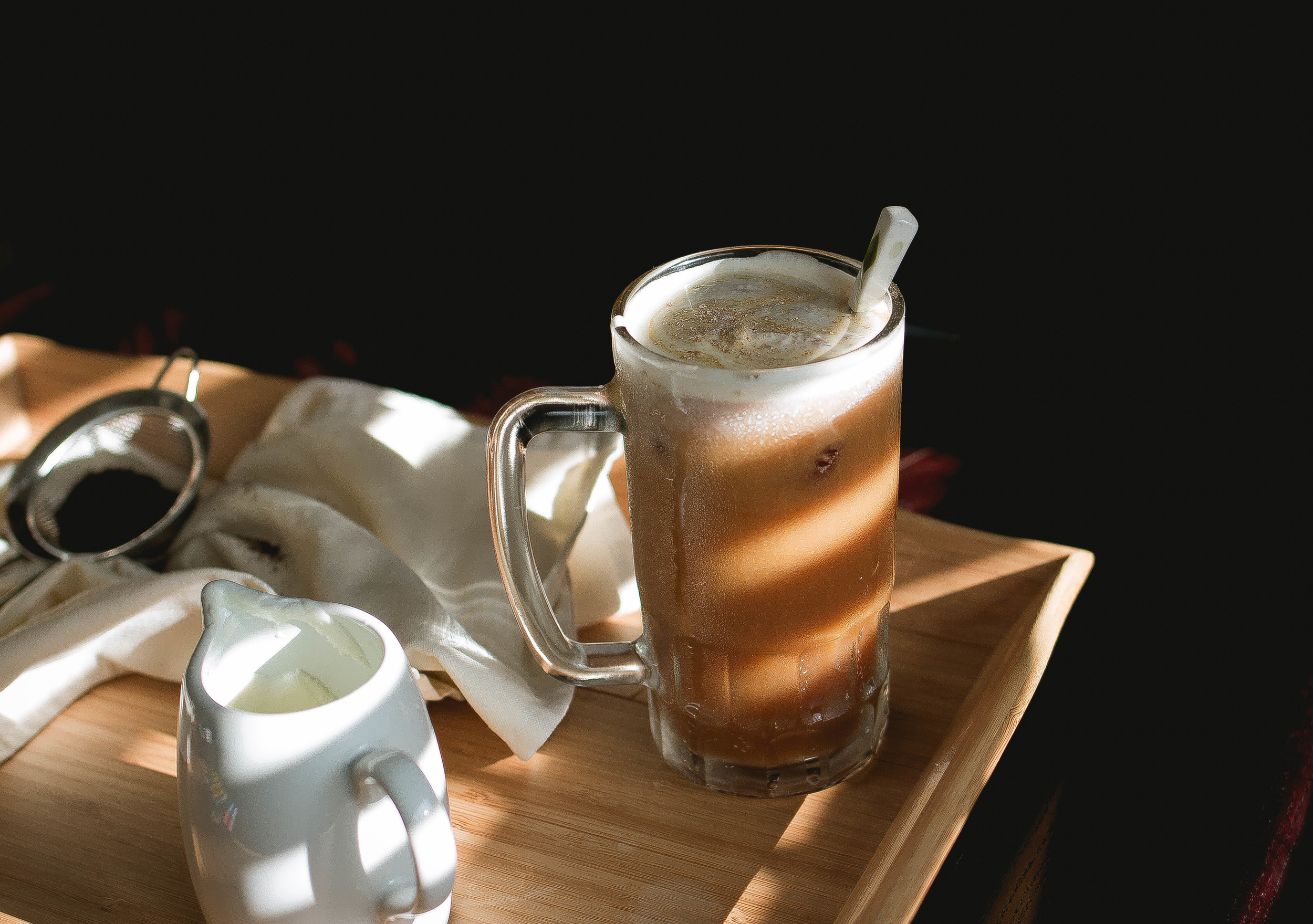 Taiwanese Recipe Creamy Sea Salt Iced Coffee Inspired By 85 Degrees And 7 Leaves