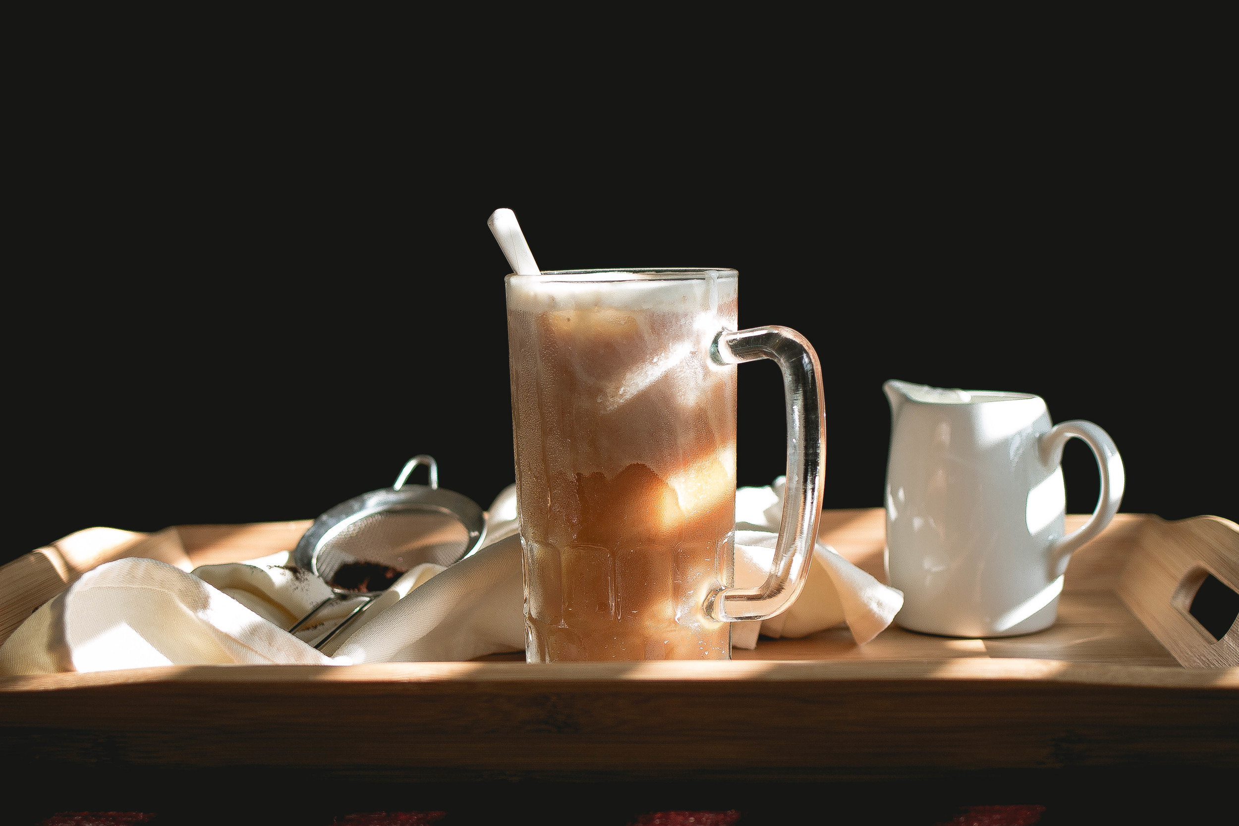 How to make 85 Degrees and 7 leaves Sea salt cream iced coffee-easy recipe | by fit for the soul