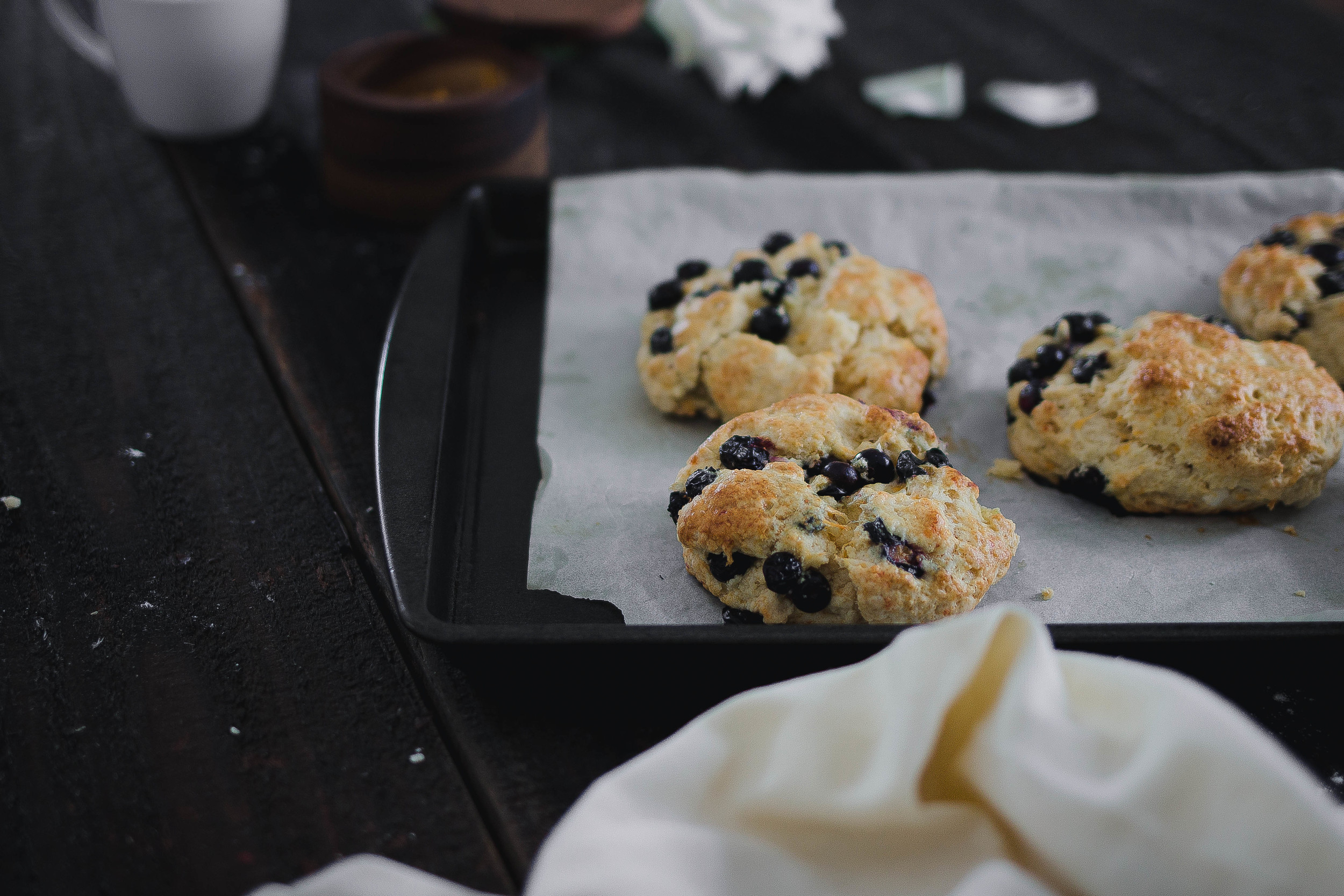 Blueberry cheddar cream scones recipe | by fit for the soul