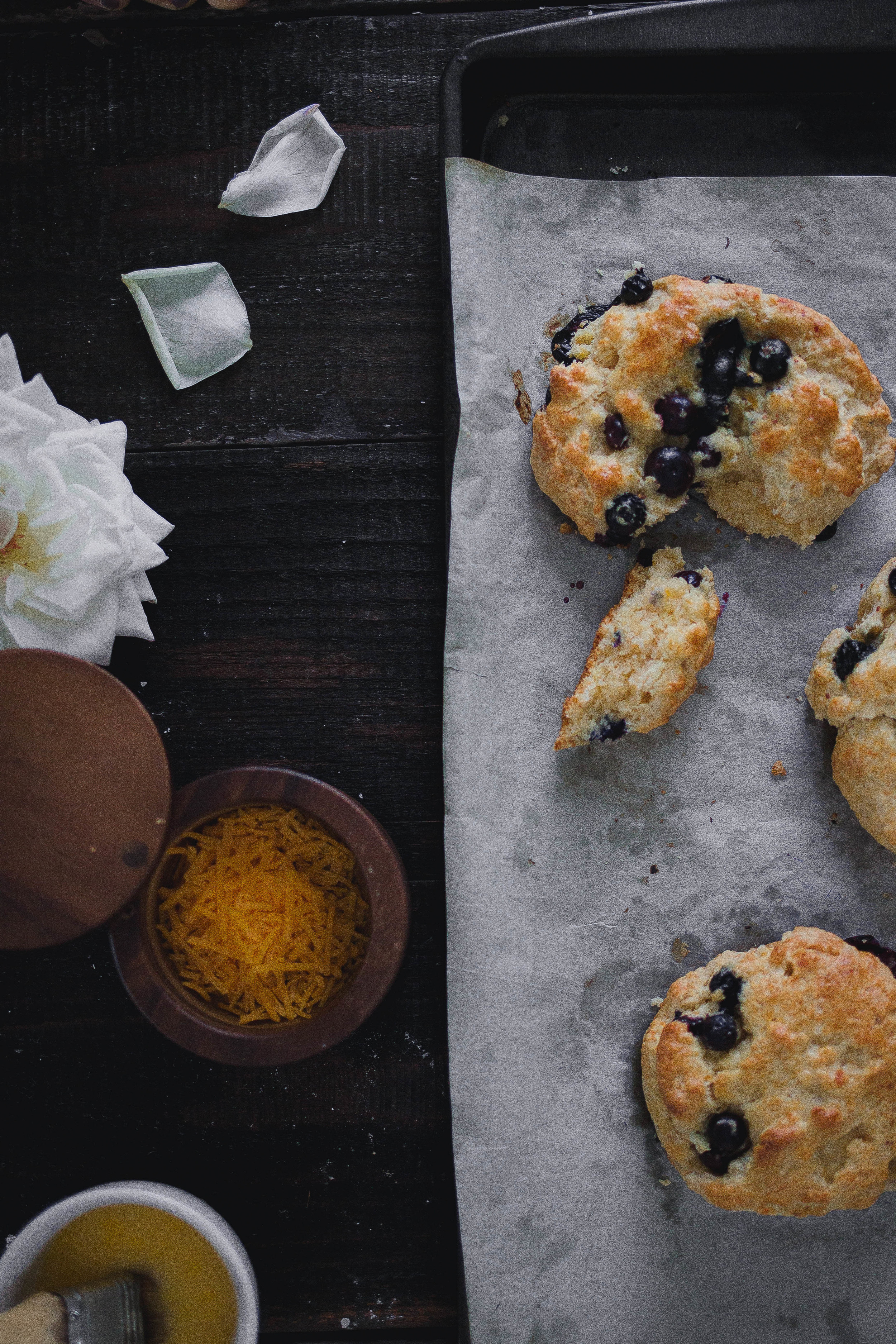 Recipe for classic cream berry scones | by fit for the soul