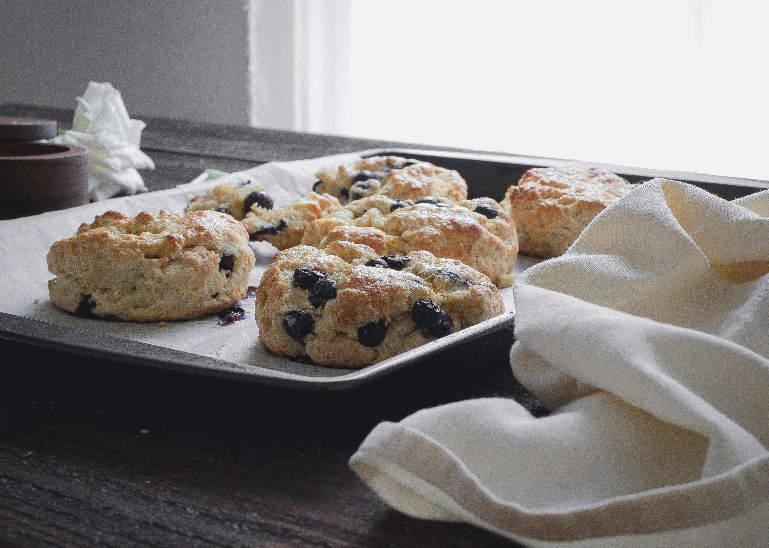 Recipe for Blueberry cheddar cream scones-moist and crumbly | by fit for the soul